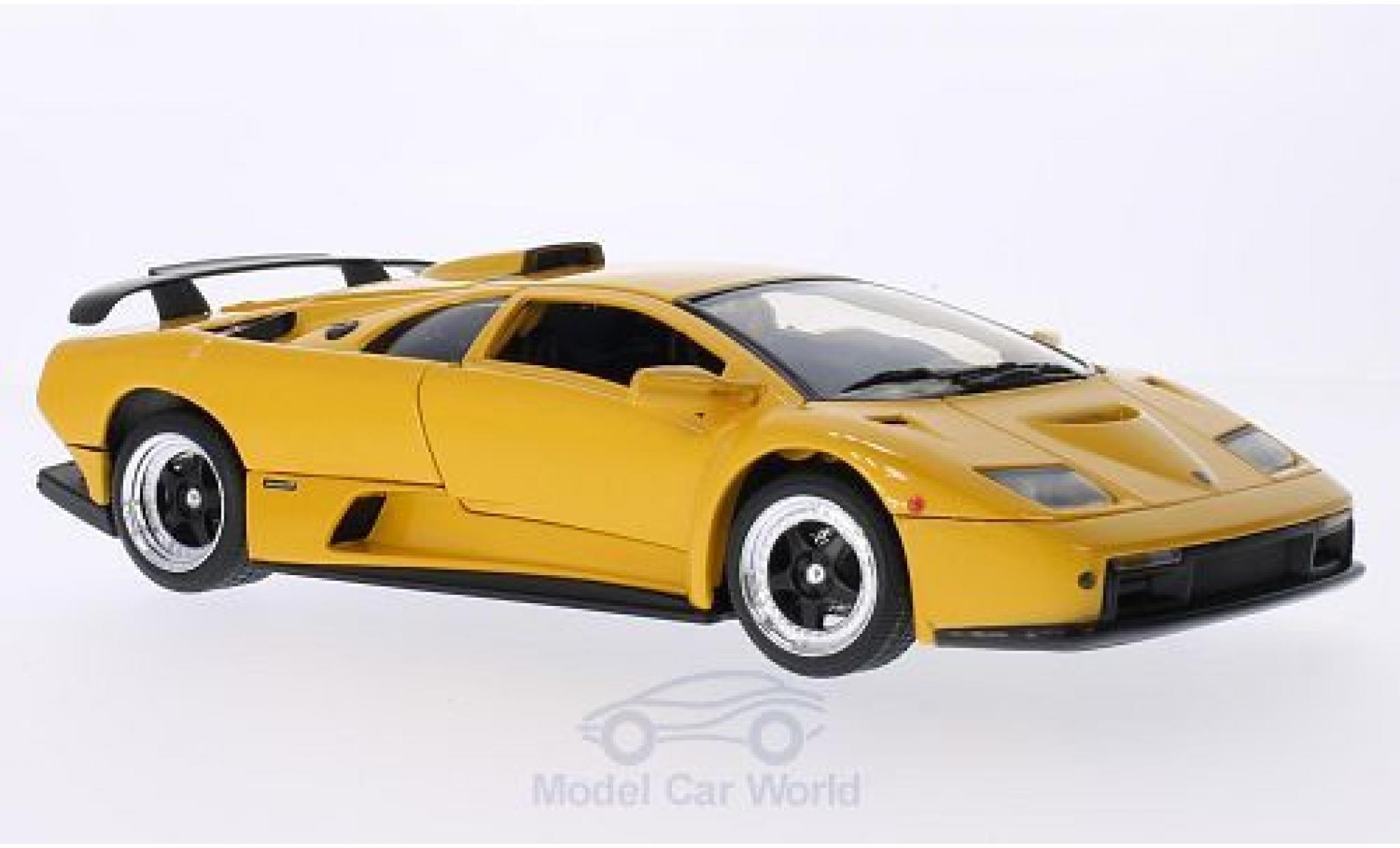 Lamborghini Diablo 1/18 Motormax GT métallisé jaune