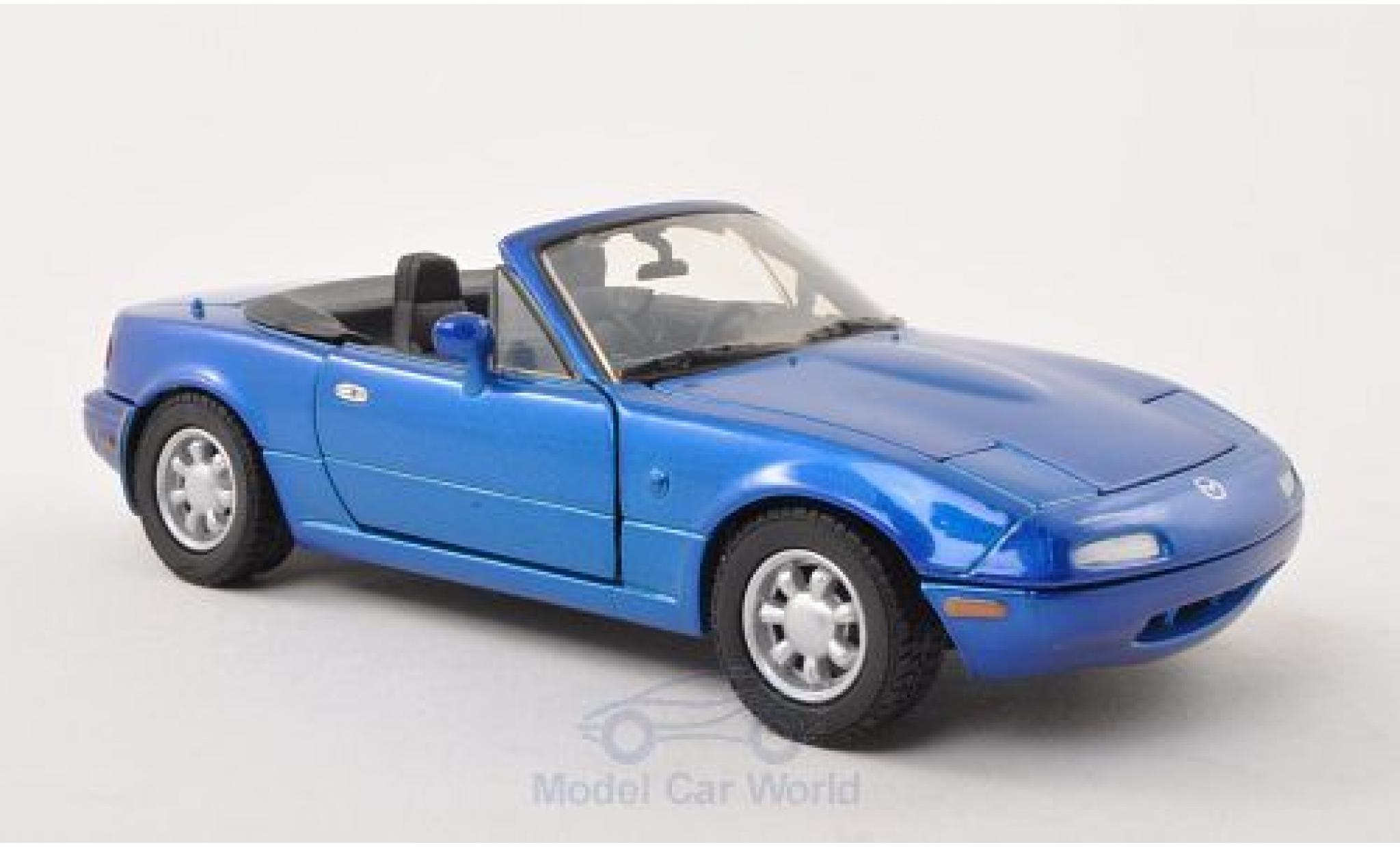 Mazda MX 1/24 Motormax -5 Miata metallic-bleue