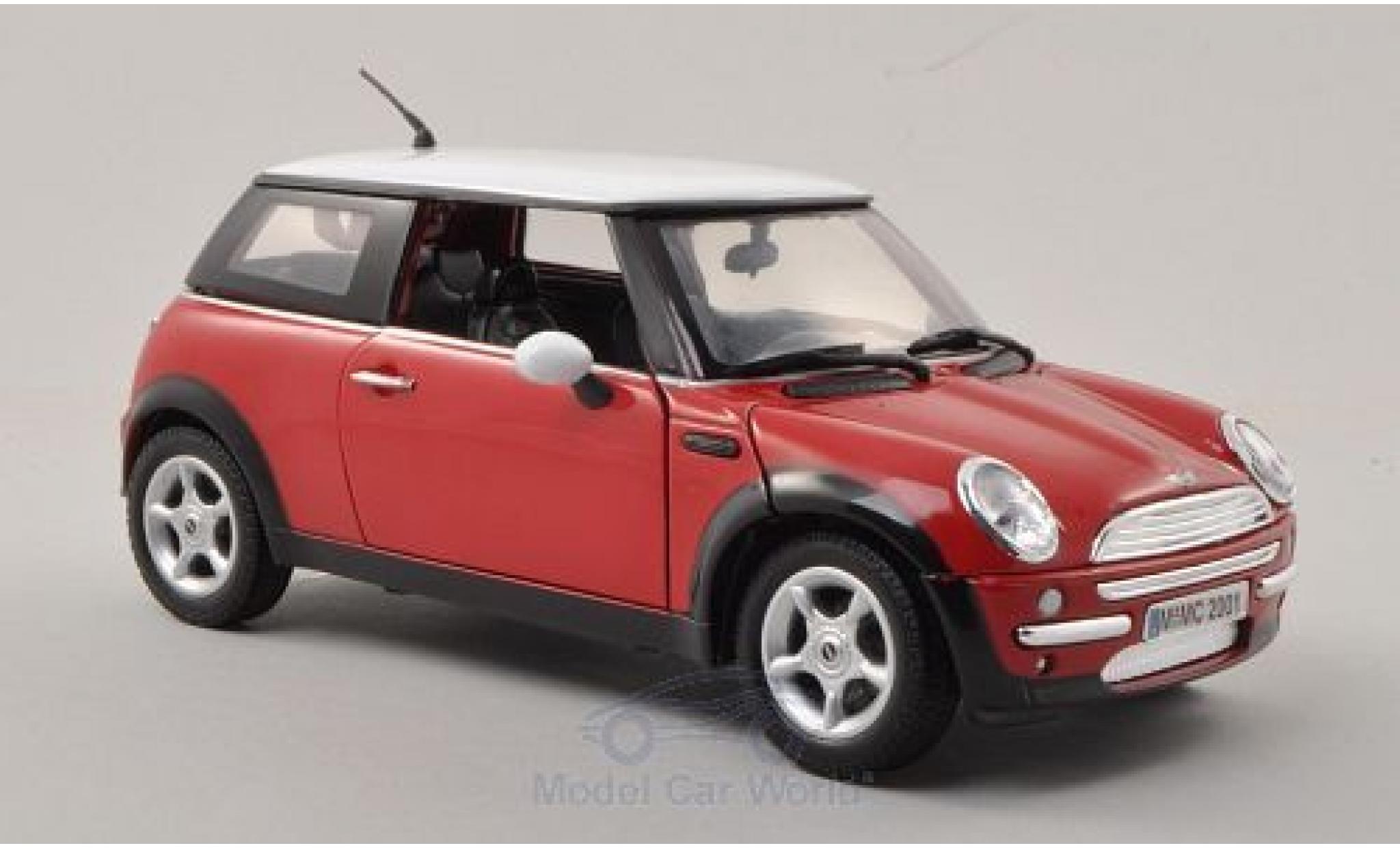 Mini Cooper S 1/18 Motormax rouge/blanche 2001