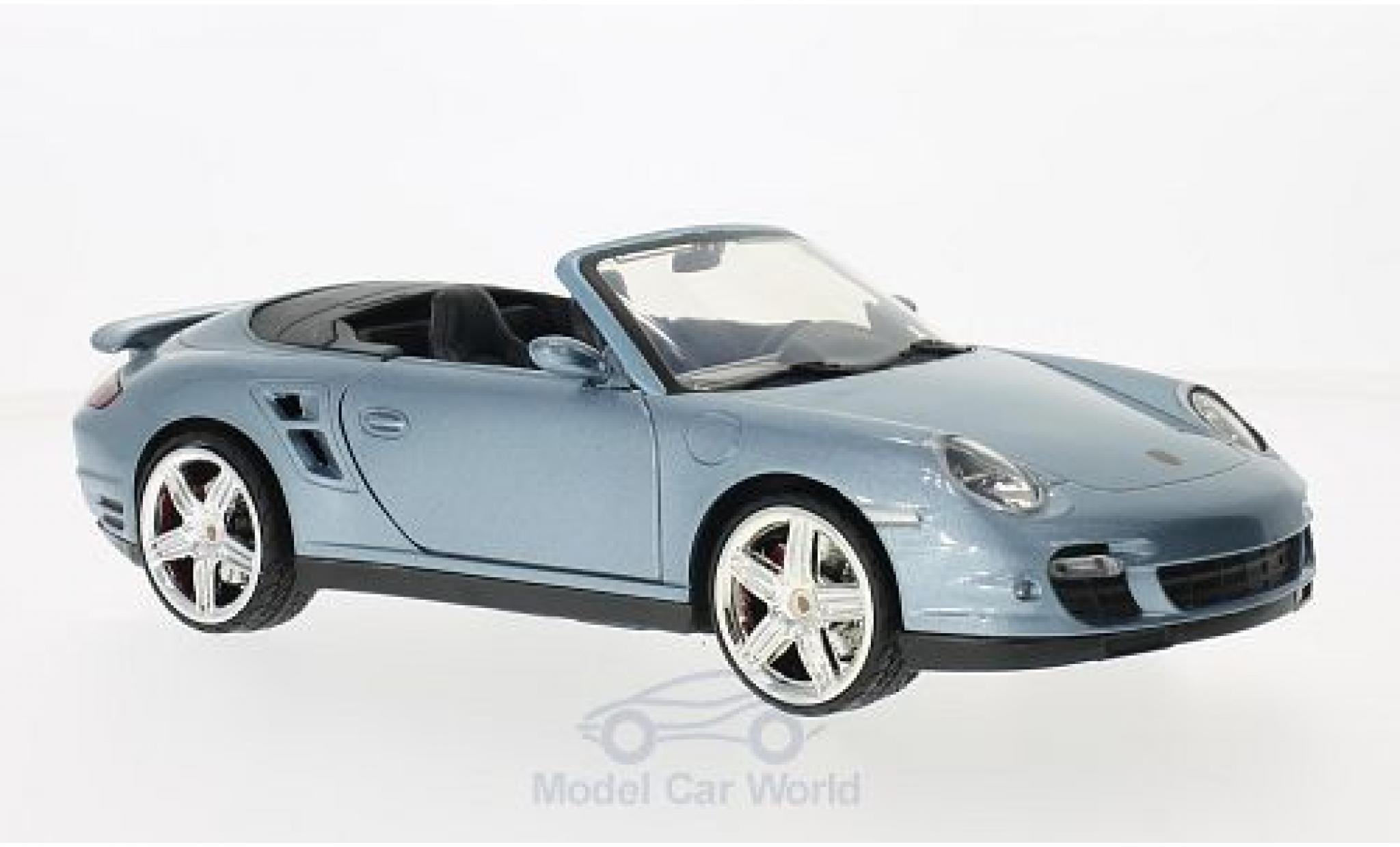 Porsche 997 Turbo 1/18 Motormax 911  Cabriolet metallise blue