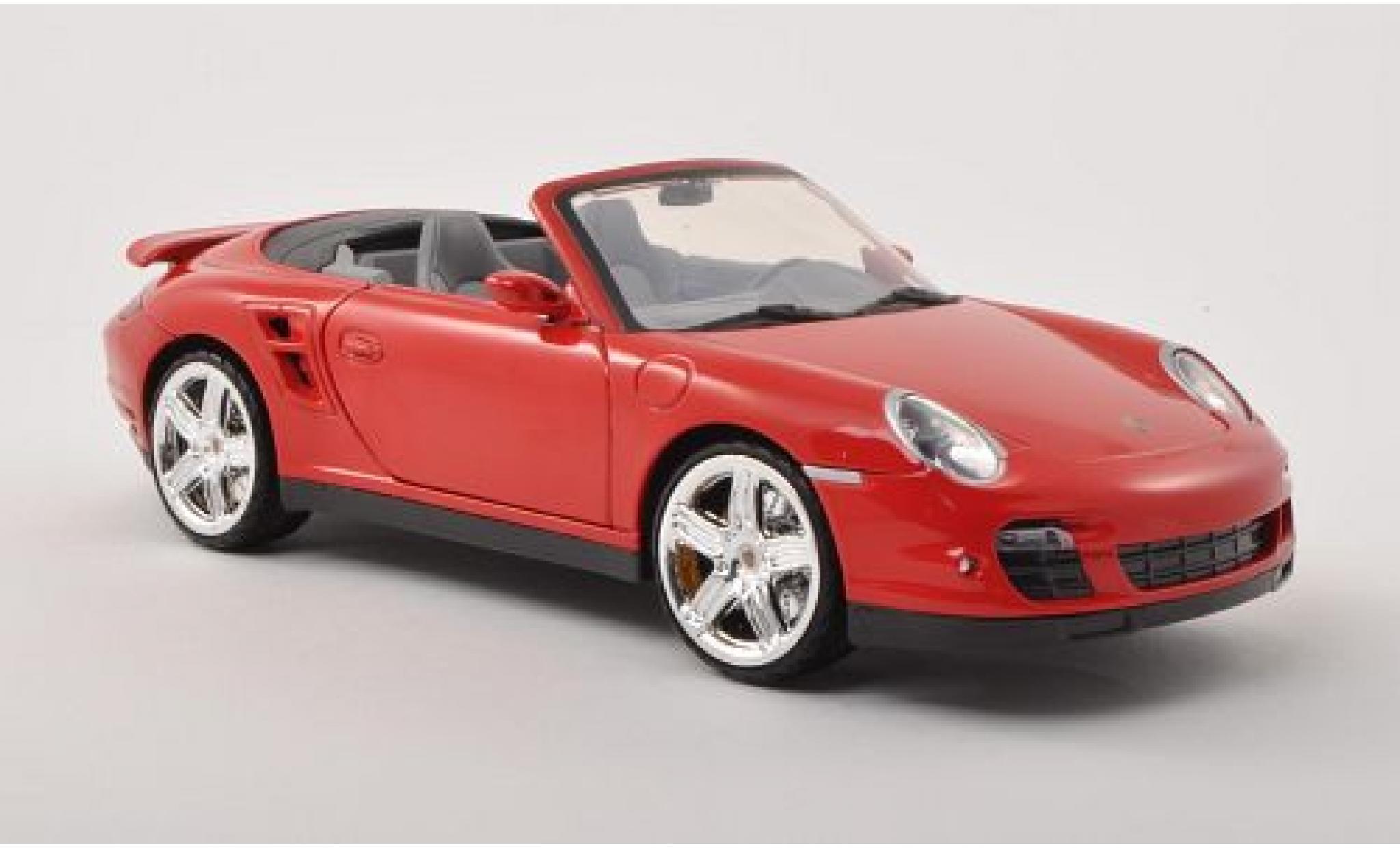 Porsche 997 Turbo 1/18 Motormax 911  Cabriolet red