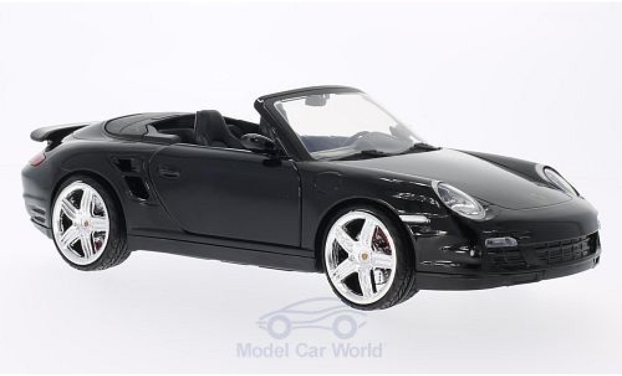 Porsche 997 Turbo 1/18 Motormax 911  Cabriolet black ohne Vitrine