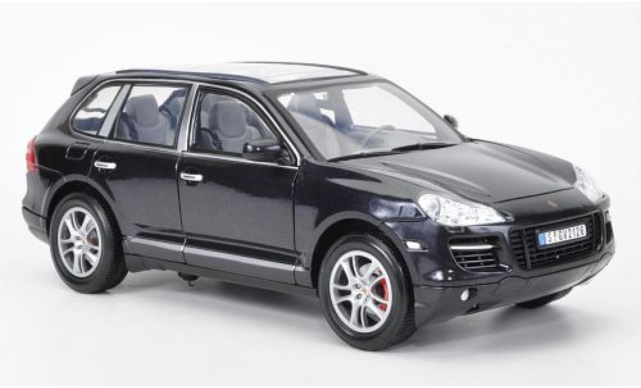 Porsche Cayenne Turbo 1/18 Motormax metallise noire