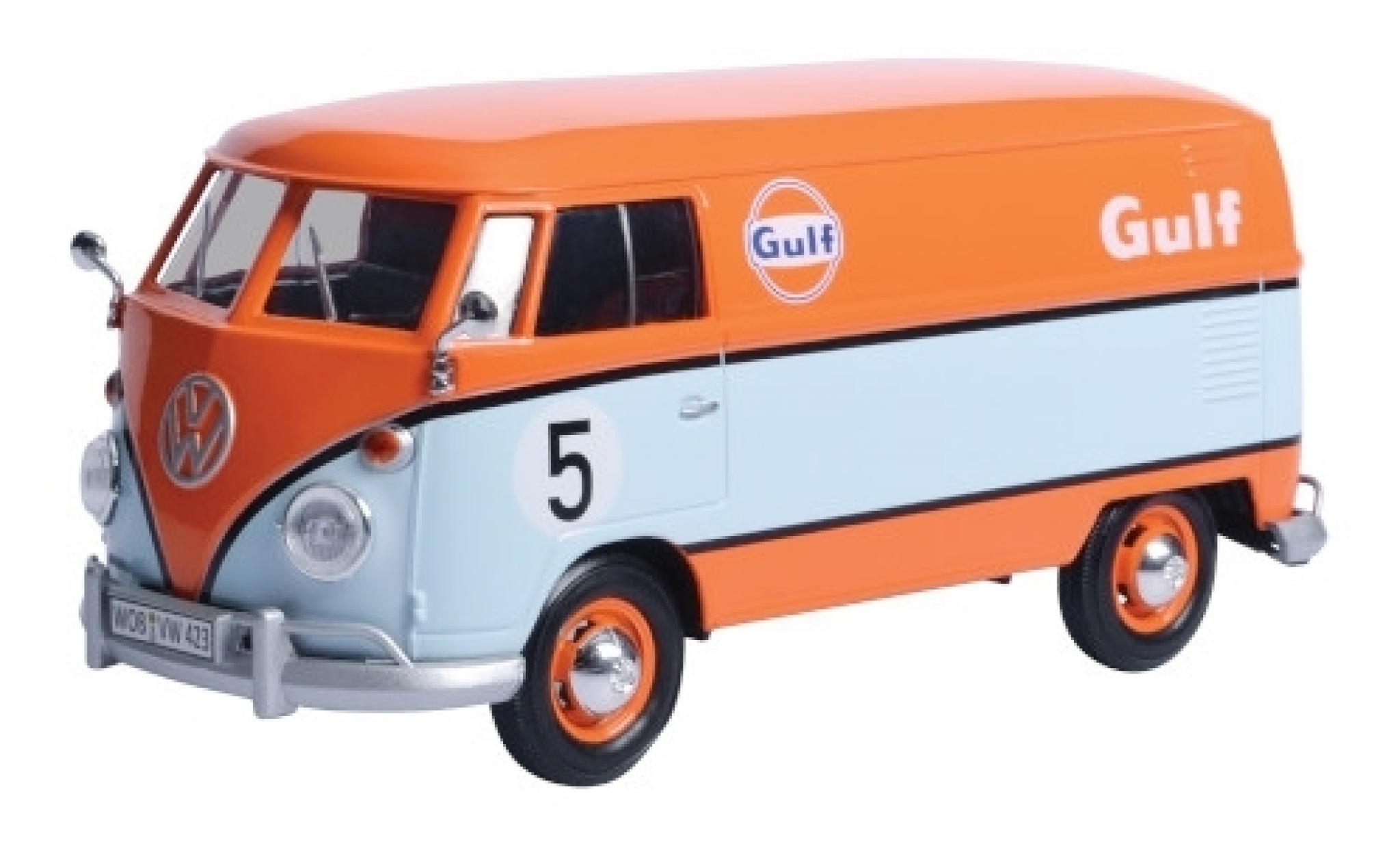Volkswagen T1 1/24 Motormax Delivery Van orange/blue Gulf fourgon No.5