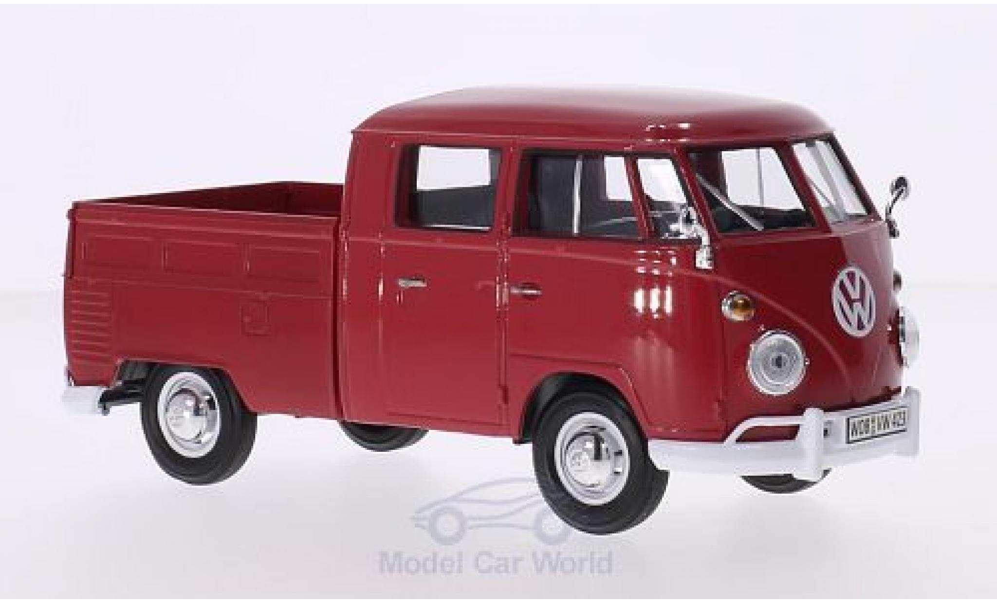 Volkswagen T1 A 1/24 Motormax DoKa rot