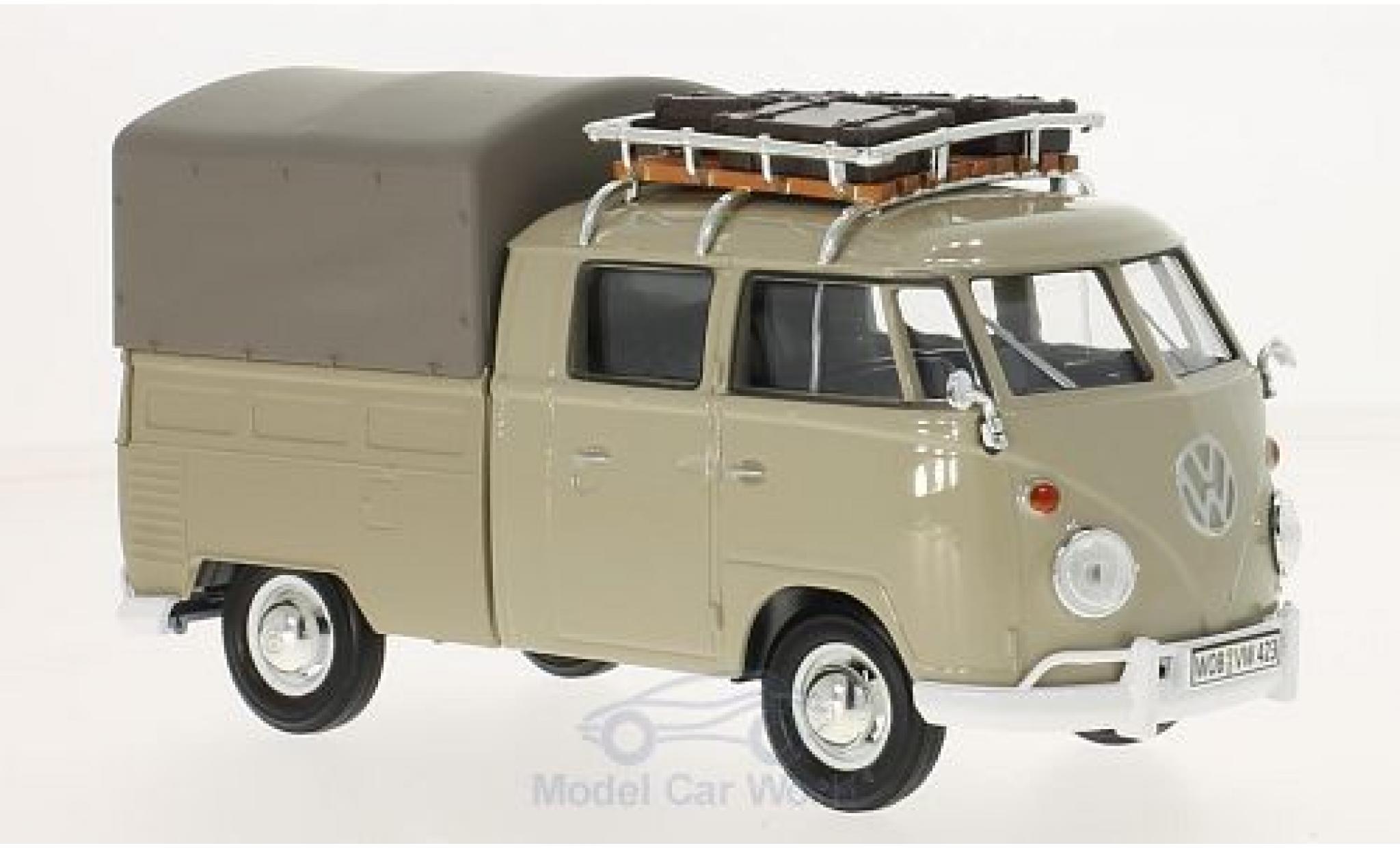 Volkswagen T1 B 1/24 Motormax beige Pick Up mit Dachgepäckträger und Plane