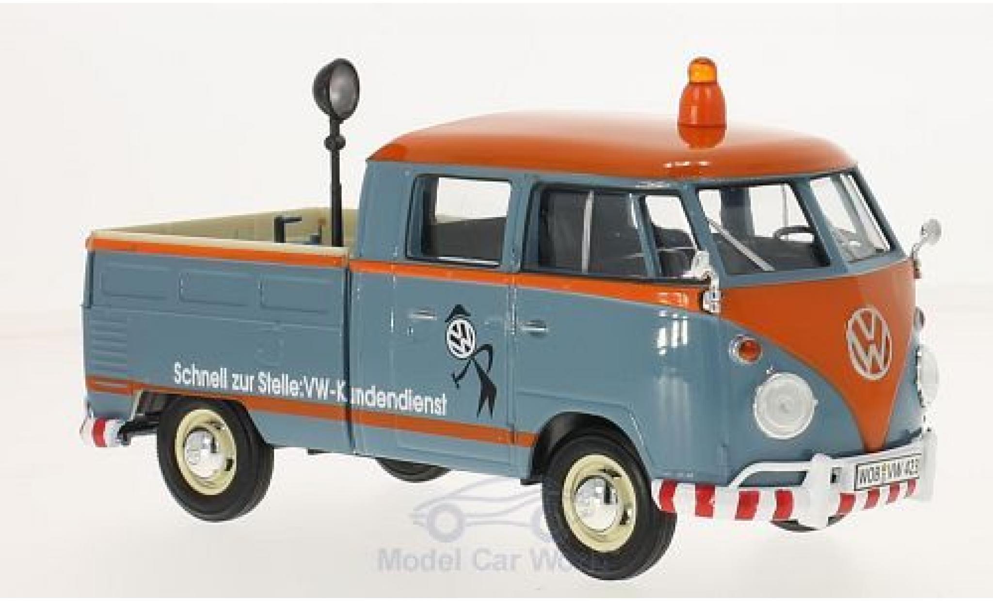 Volkswagen T1 A 1/24 Motormax Kundendienst Pick Up mit Ladegut