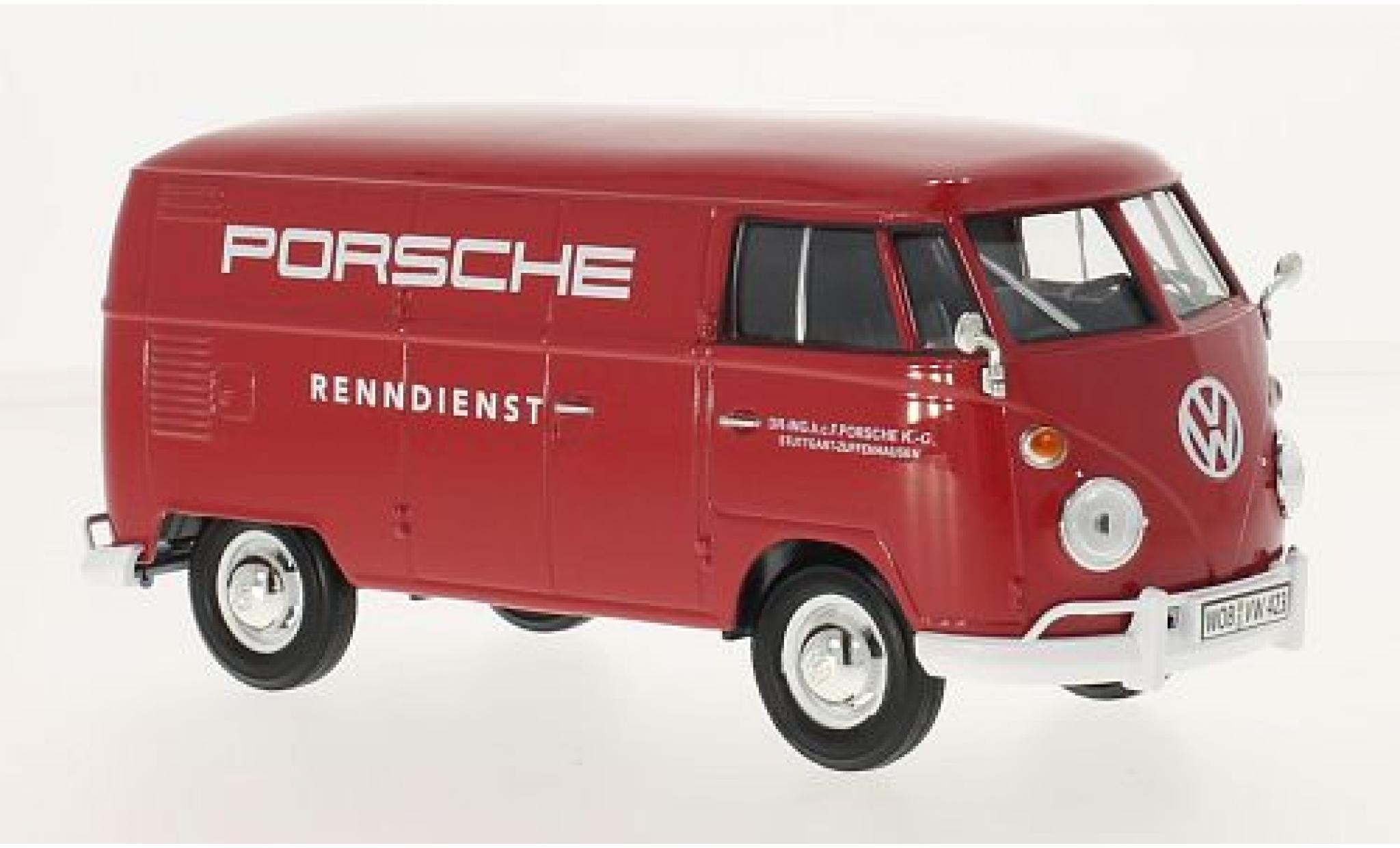 Volkswagen T1 1/24 Motormax Porsche fourgon