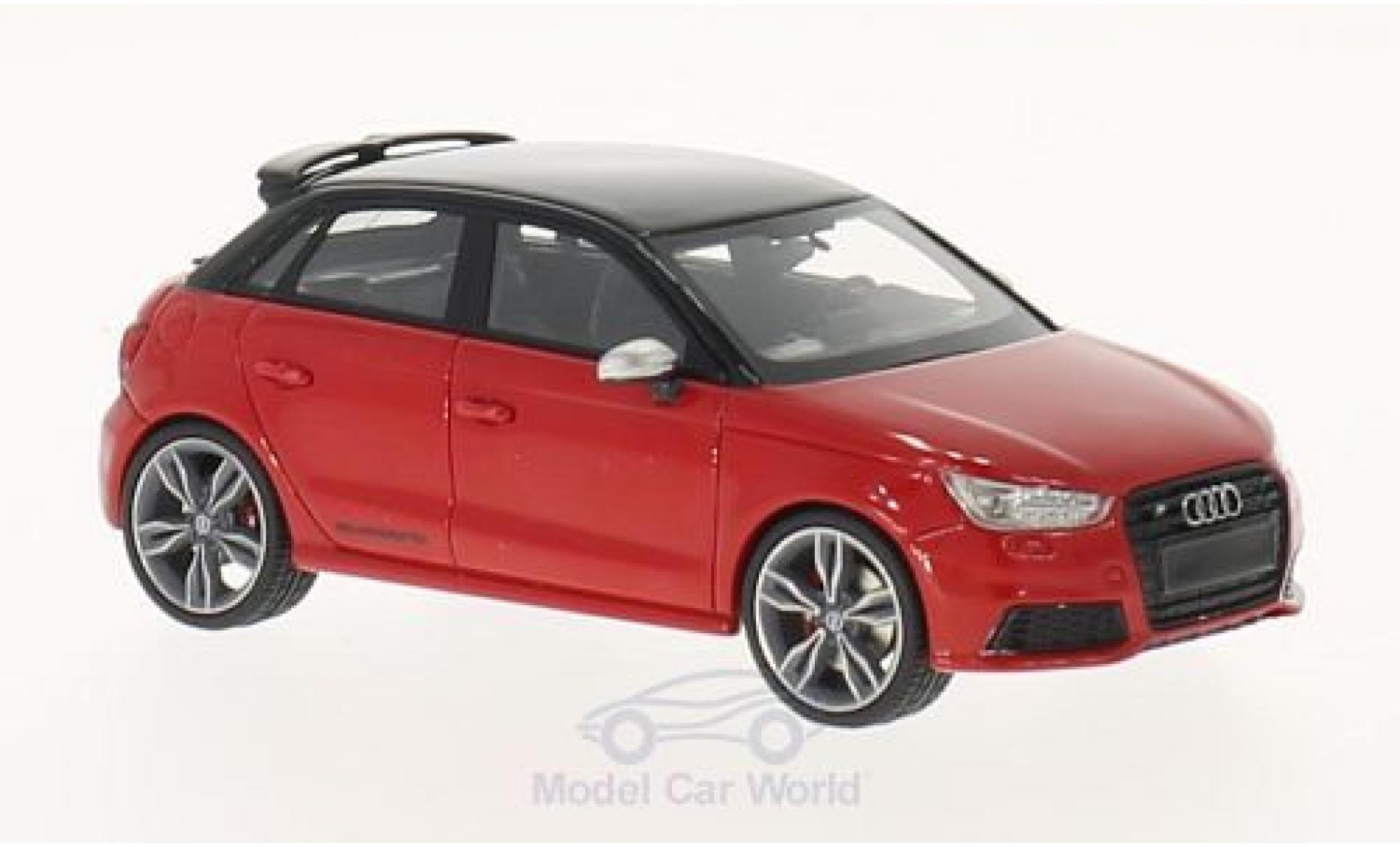 Audi S1 1/43 Neo Sportback rouge/noire 2014