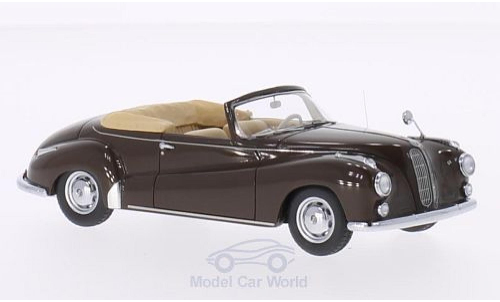 Bmw 502 1/43 Neo BMW Cabriolet Autenrieth brown 1956