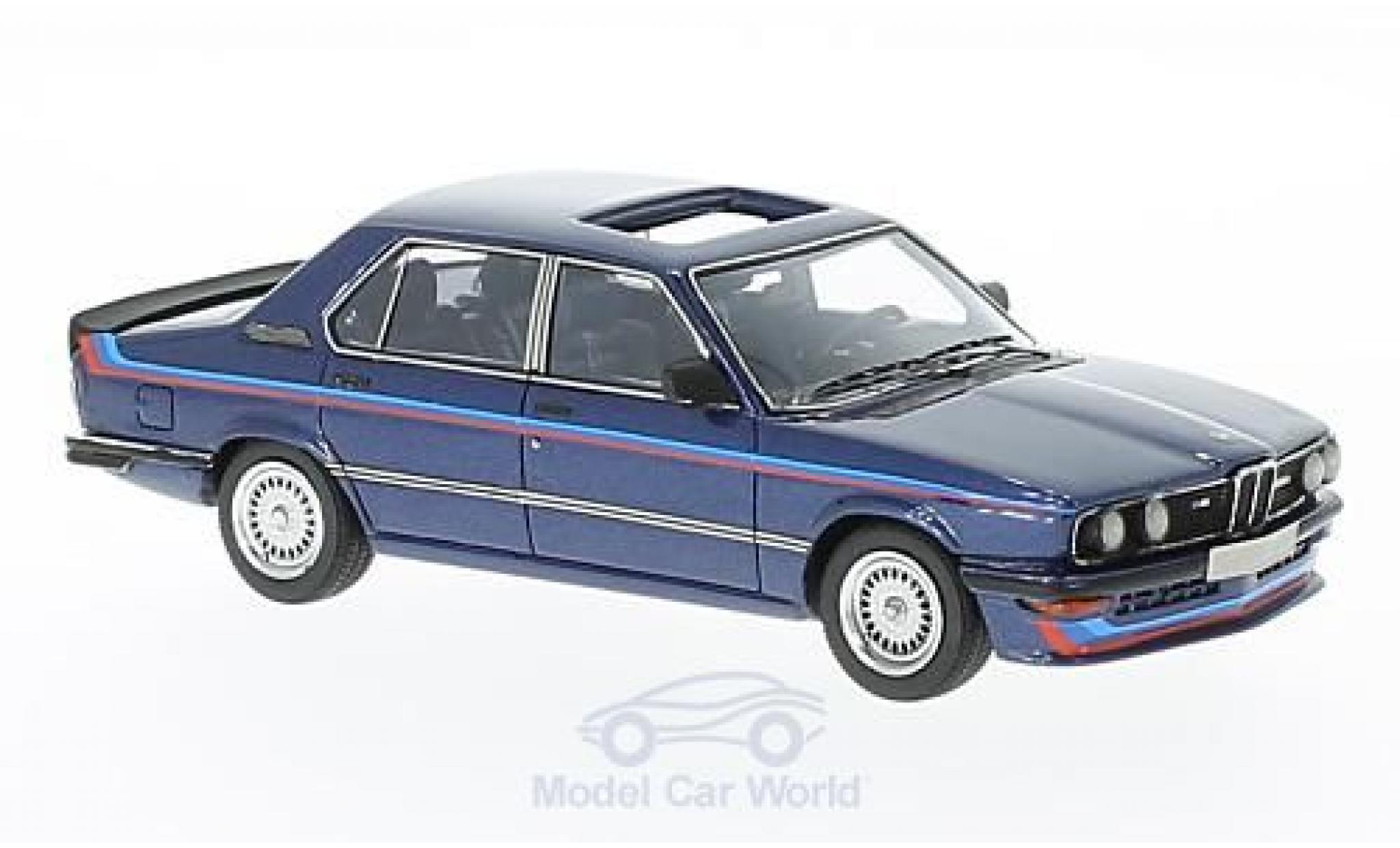 Bmw M5 E12 1/43 Neo BMW 35i (E12) metallic-dunkelbleue/Dekor 1978