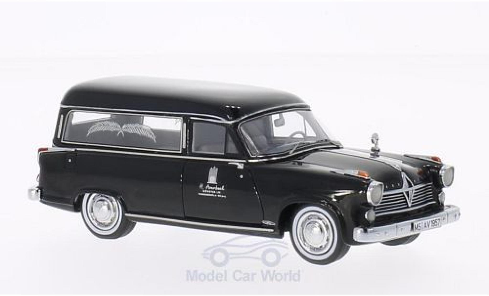 Borgward Hansa 2400 1/43 Neo Rappold noire 1957 Bestattungswagen