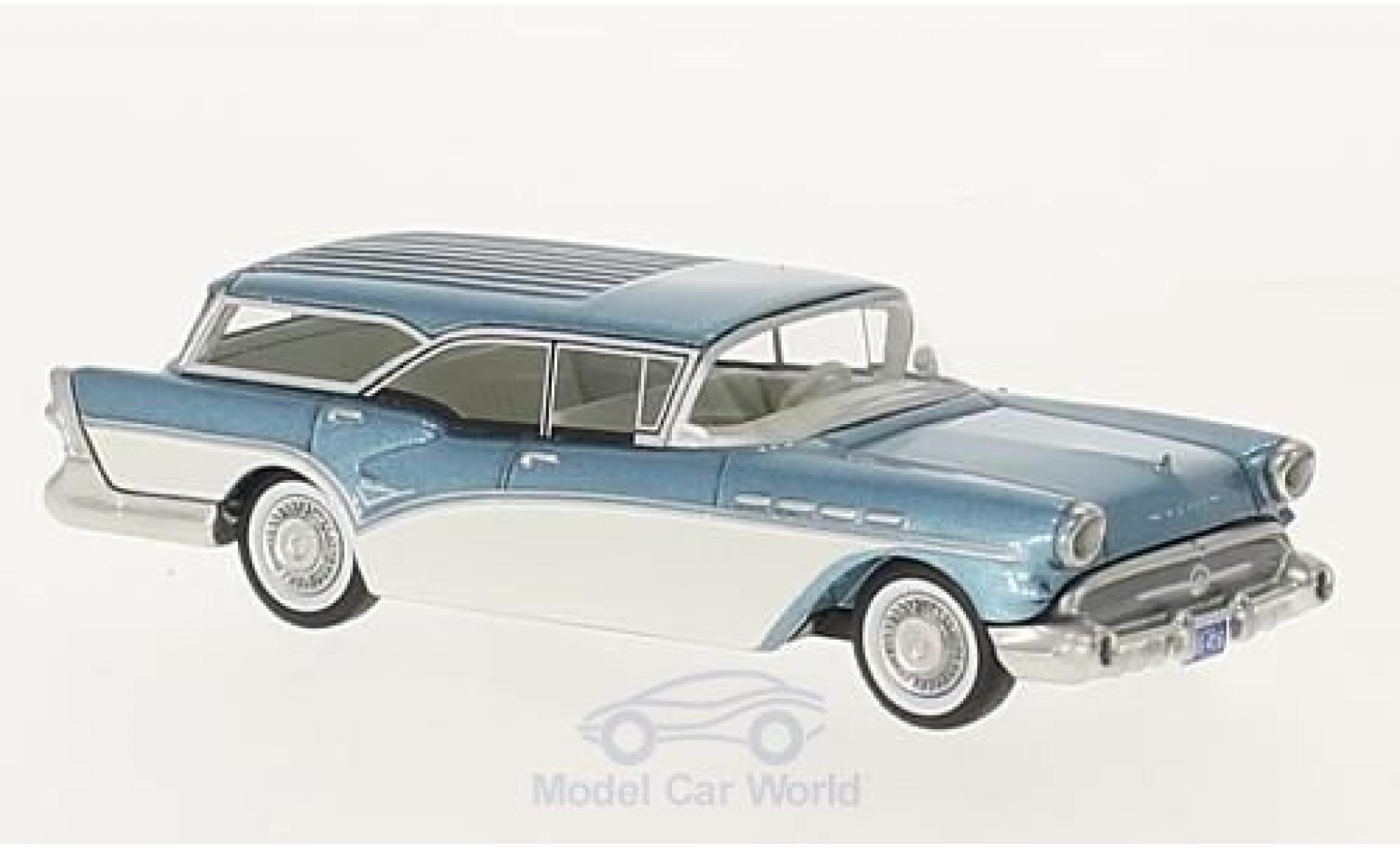 Buick Century 1/64 Neo Caballero Estate Wagon metallise bleue/blanche 1957