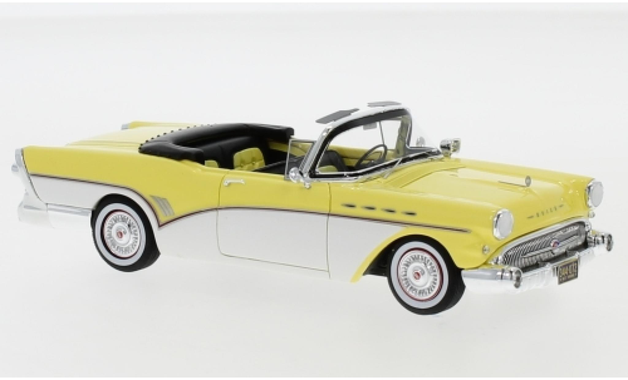 Buick Roadmaster 1/43 Neo Convertible yellow/white 1957