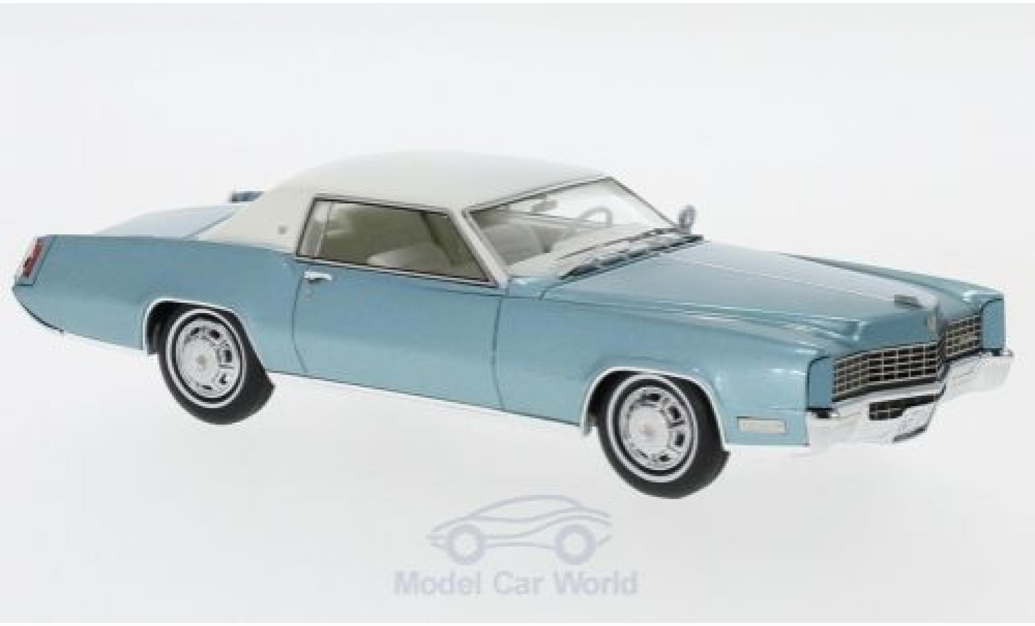 Cadillac Eldorado 1/43 Neo Coupe metallise turquoise/blanche 1967