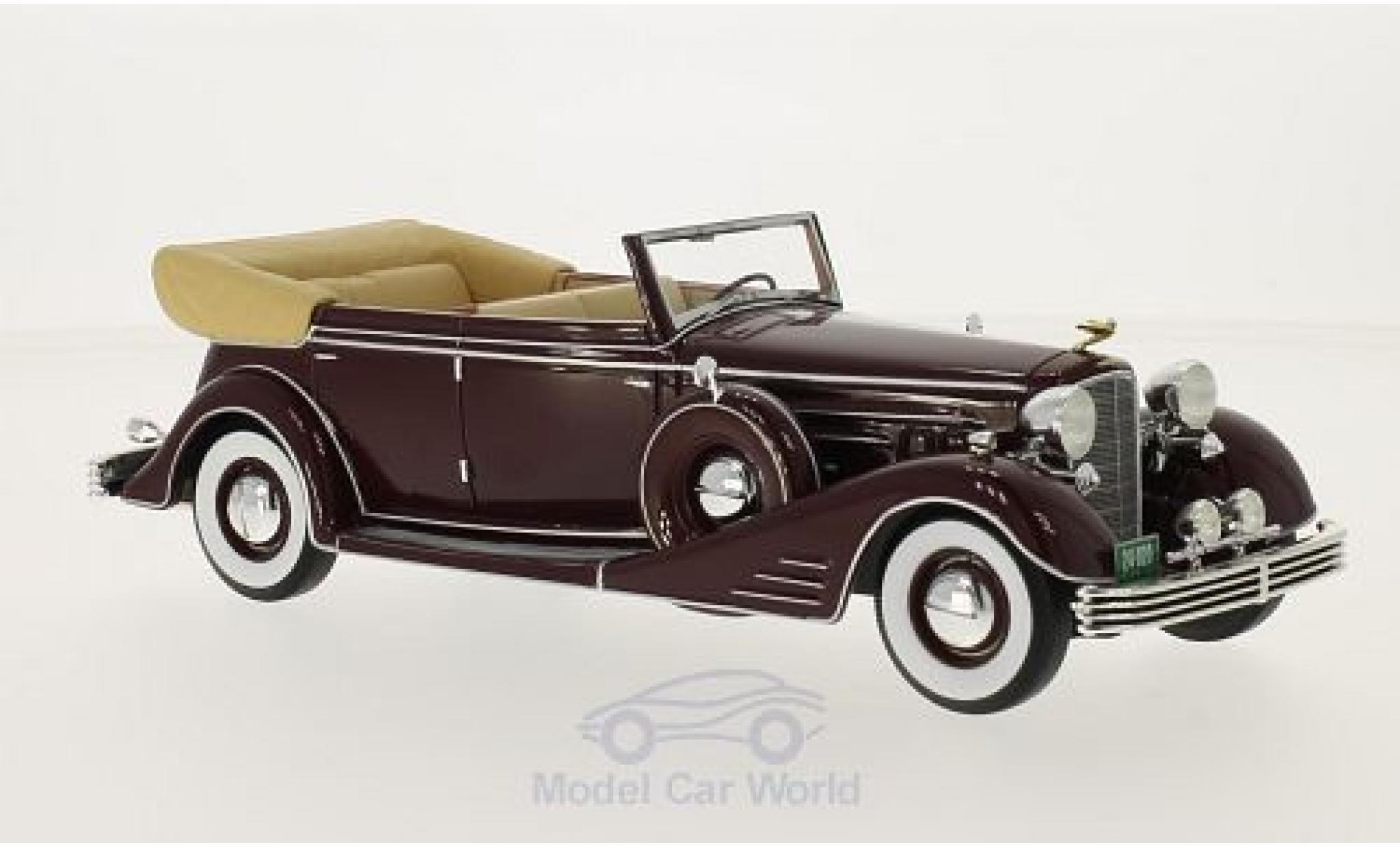 Cadillac Fleetwood 1/24 Neo Allweather Phaeton dunkelrouge 1933