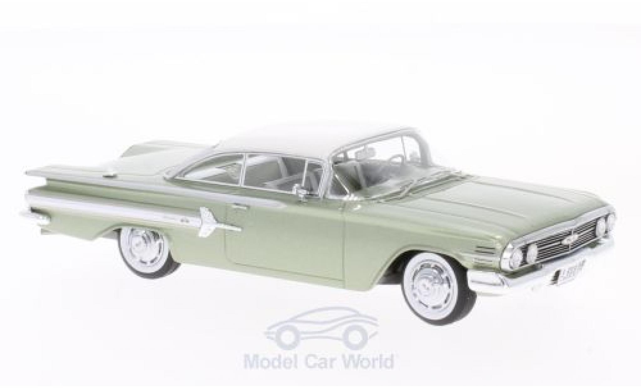 Chevrolet Impala 1960 1/43 Neo Sport Coupe metallise verte/blanche