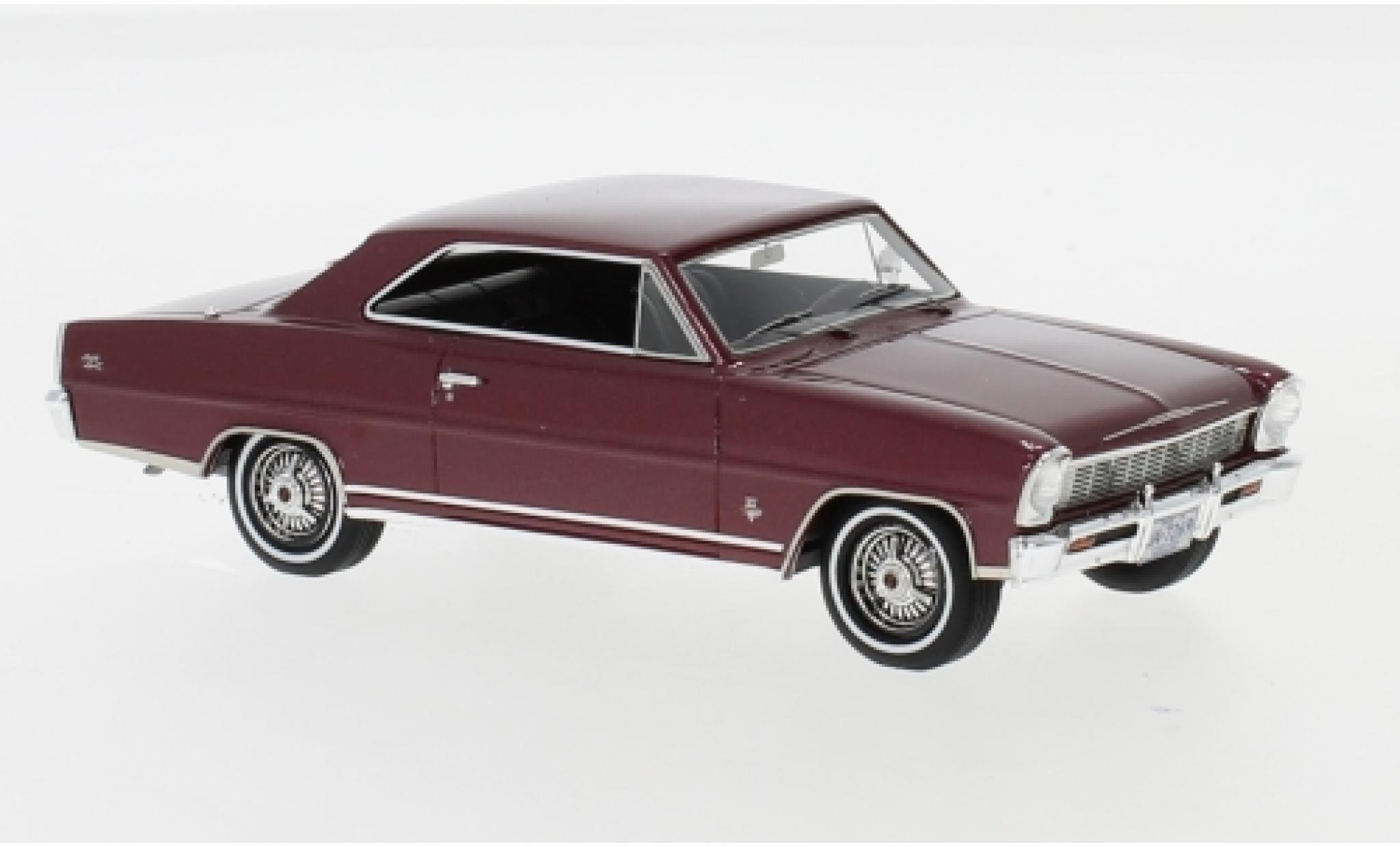 Chevrolet Nova 1/43 Neo SS Hardtop metallise red 1966