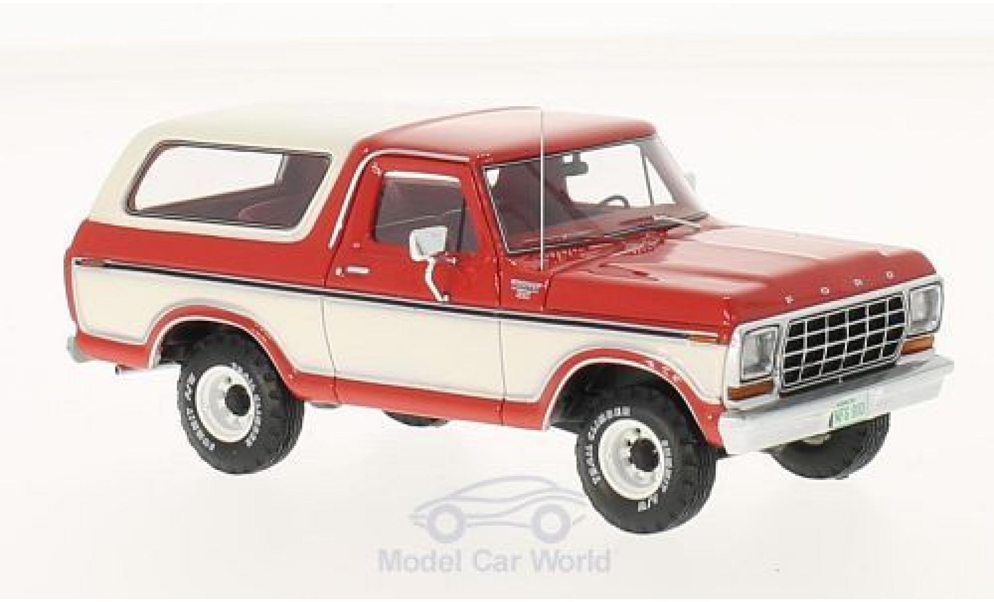 FORD Bronco 1973 rosso//bianco modello di auto 1:24//Jada Toys