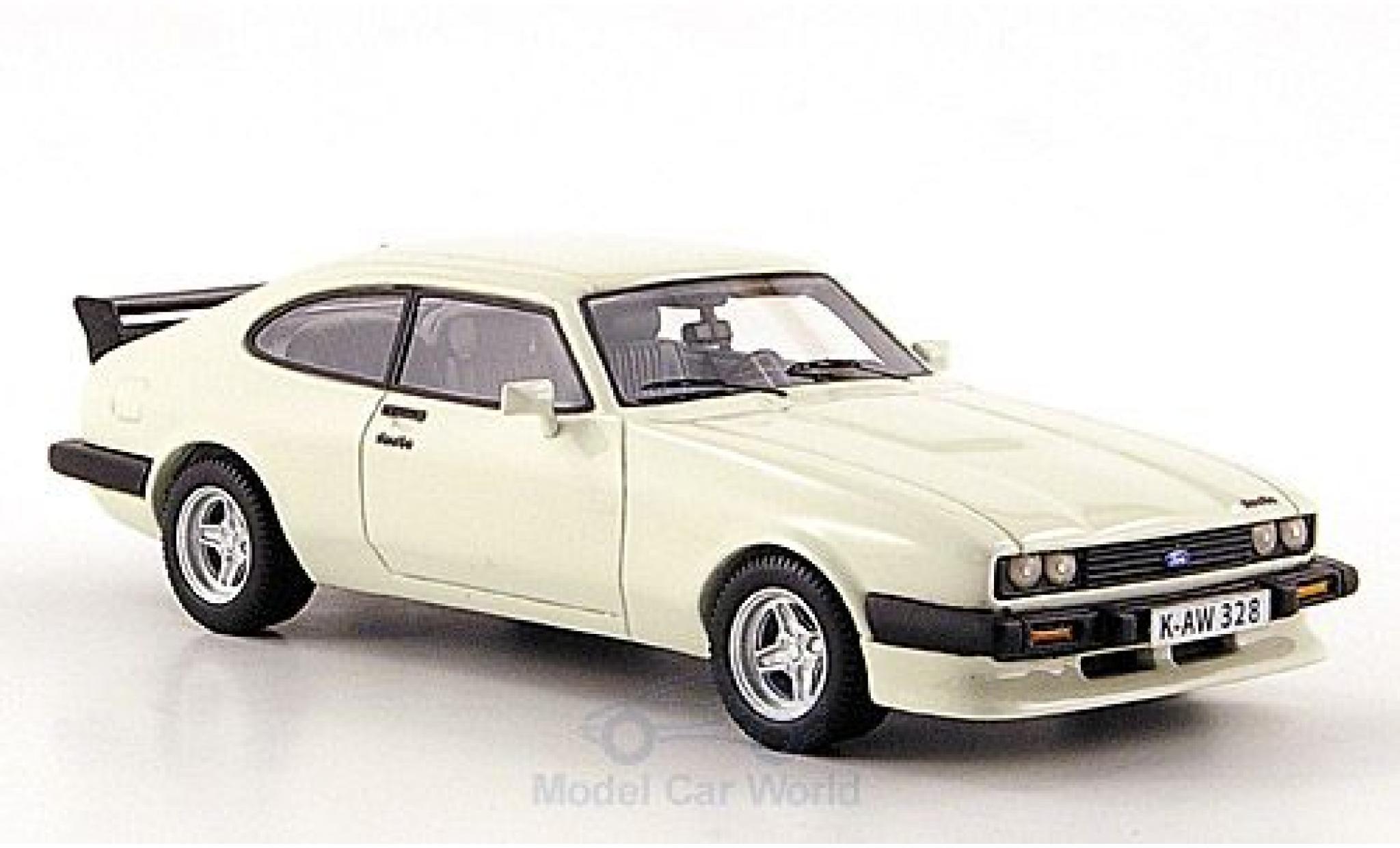 Ford Capri 1/43 Neo MK III Turbo bianco 1981