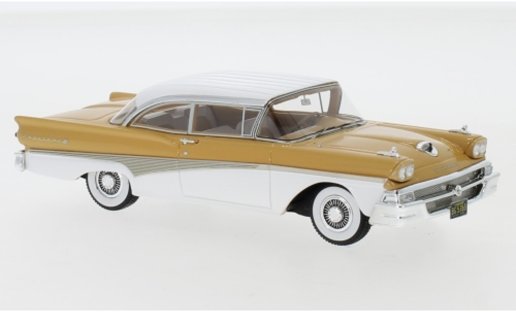 Ford Fairlane 1/43 Neo 500 Hardtop marron/blanche 1958
