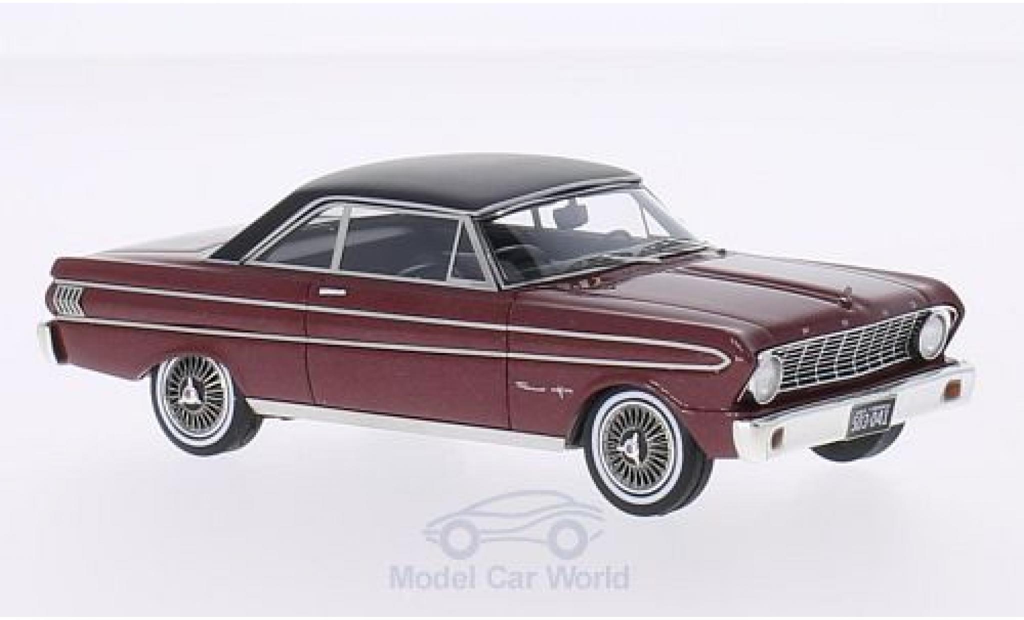 Ford Falcon 1/43 Neo Sprint metallise rouge/matt-noire 1964