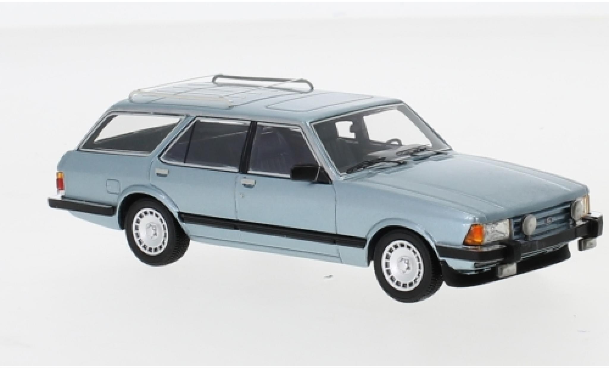 Ford Granada 1/43 Neo MK II Turnier Ghia metallise bleue 1984