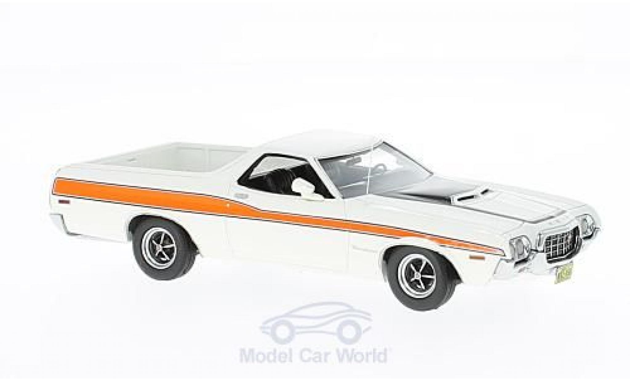 Ford Ranchero 1/43 Neo GT blanche/orange 1972