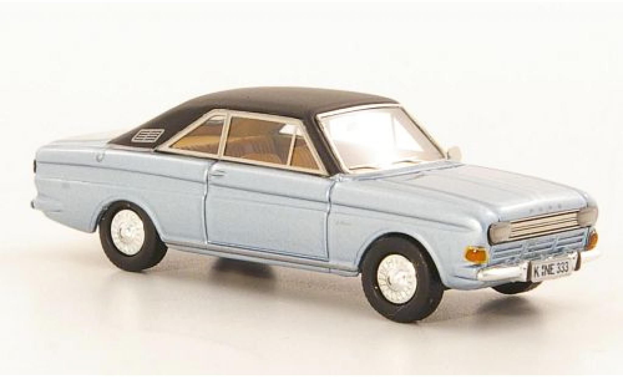 Ford Taunus 1/87 Neo P6 15M Coupe metallise bleue/noire 1968