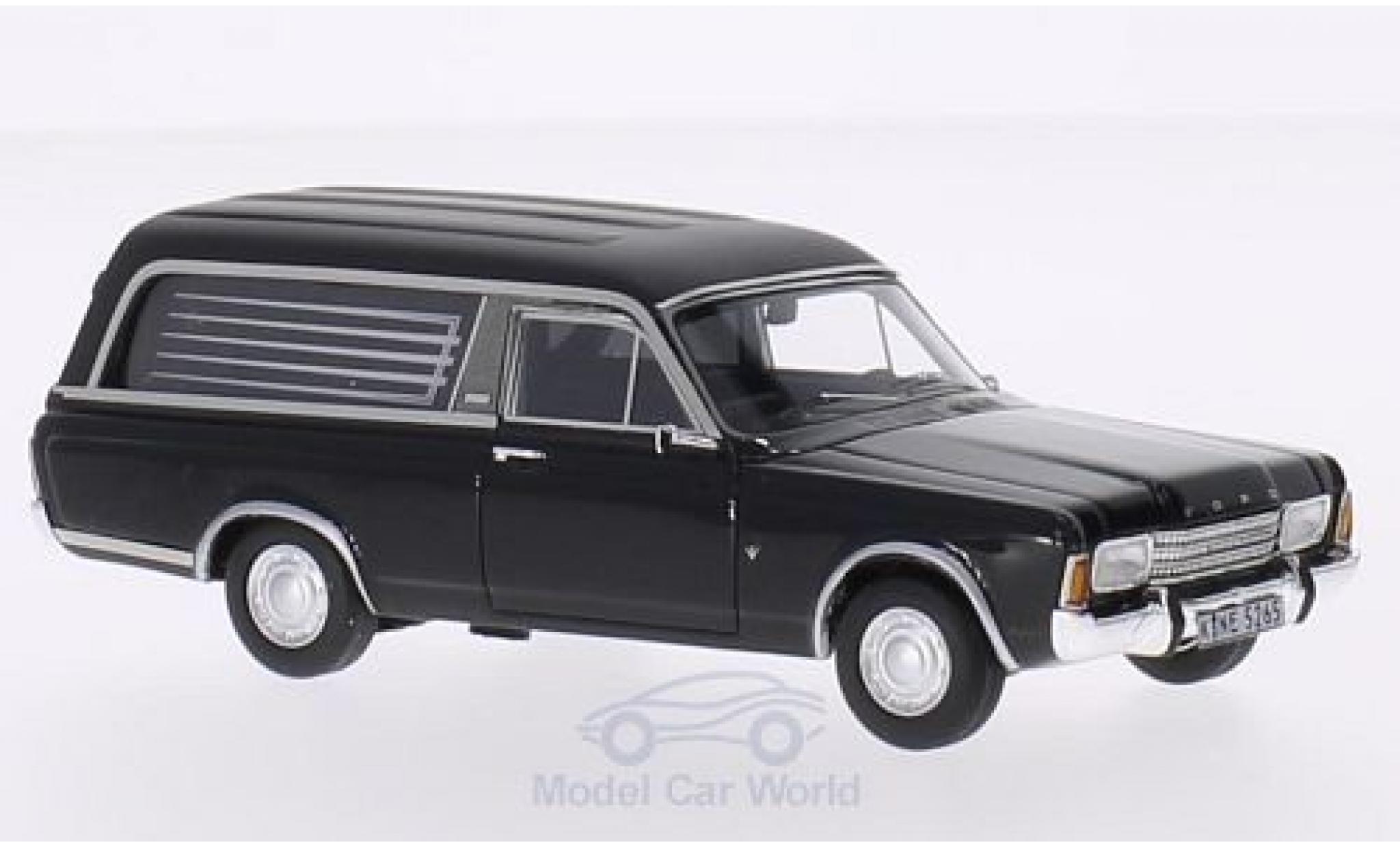 Ford Taunus 1969 1/43 Neo P7 Pollmann noire Bestattungsfahrzeug