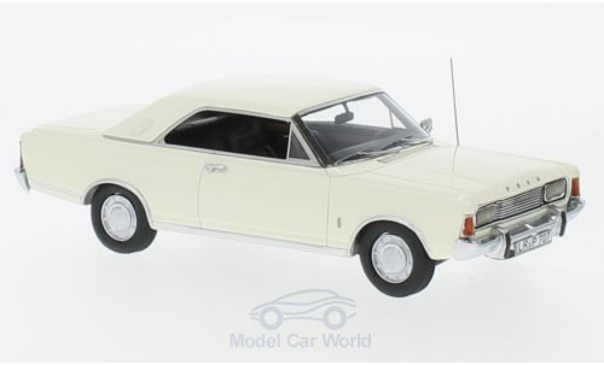 Ford Taunus 1971 1/43 Neo P7b 20M Coupe blanche 1971
