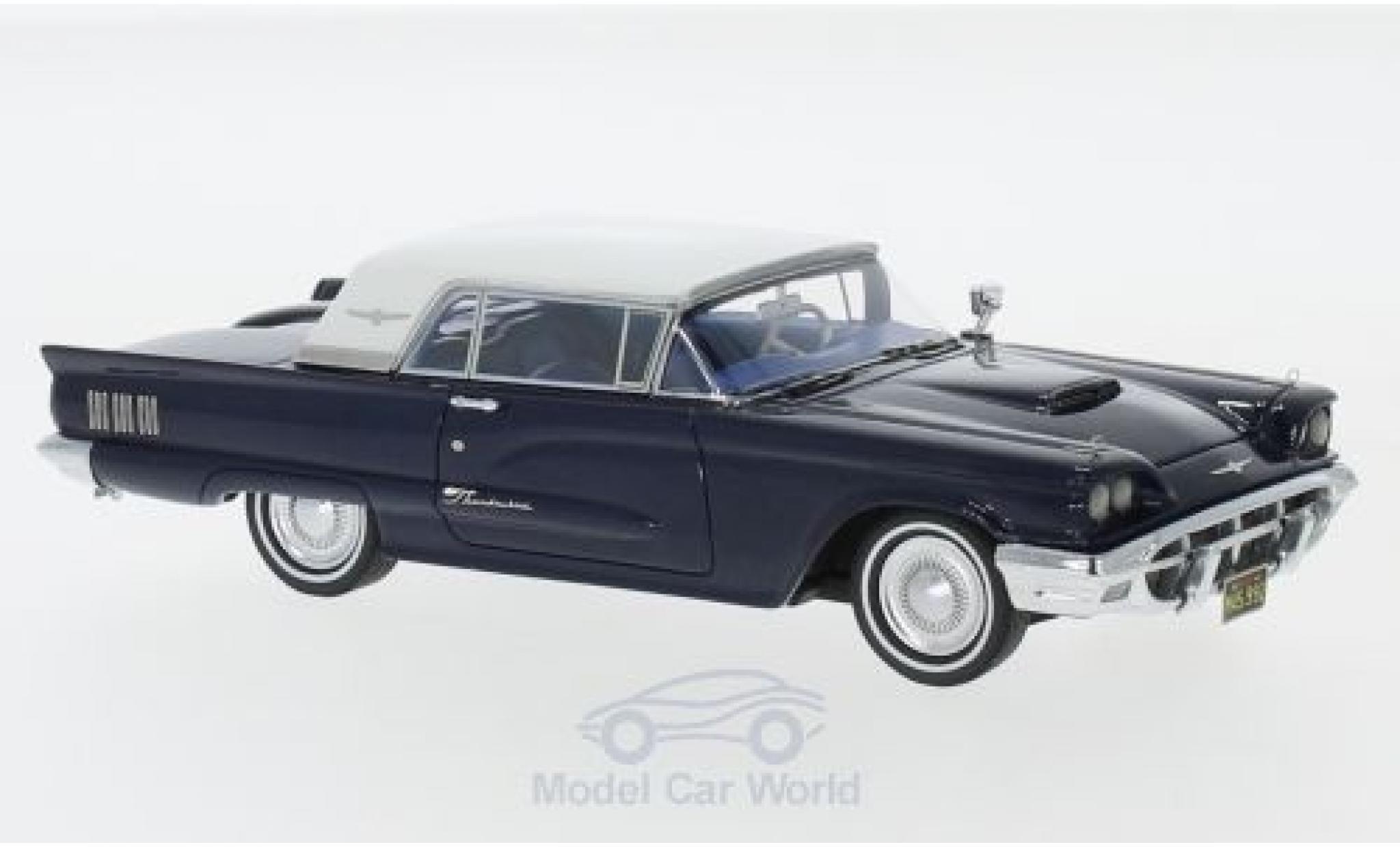 Ford Thunderbird 1/43 Neo Hardtop metallise blue/white 1960