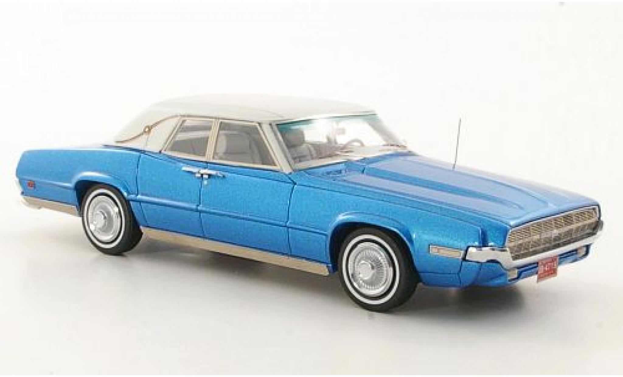 Ford Thunderbird 1/43 Neo Landau metallise bleue/matt-blanche 1969