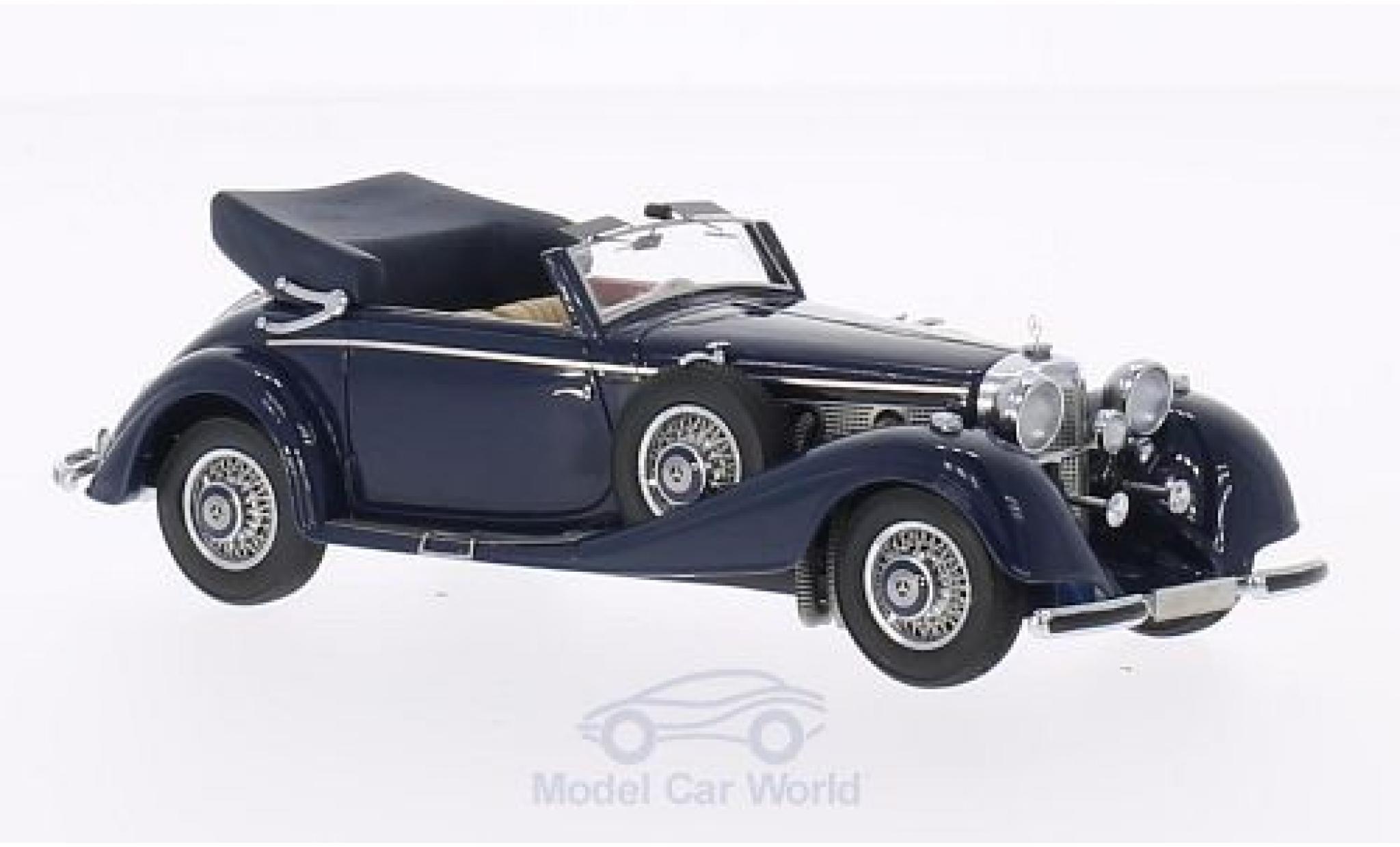 Mercedes 540 1/43 Neo K Typ A Cabriolet bleue 1936 Verdeck geöffnet