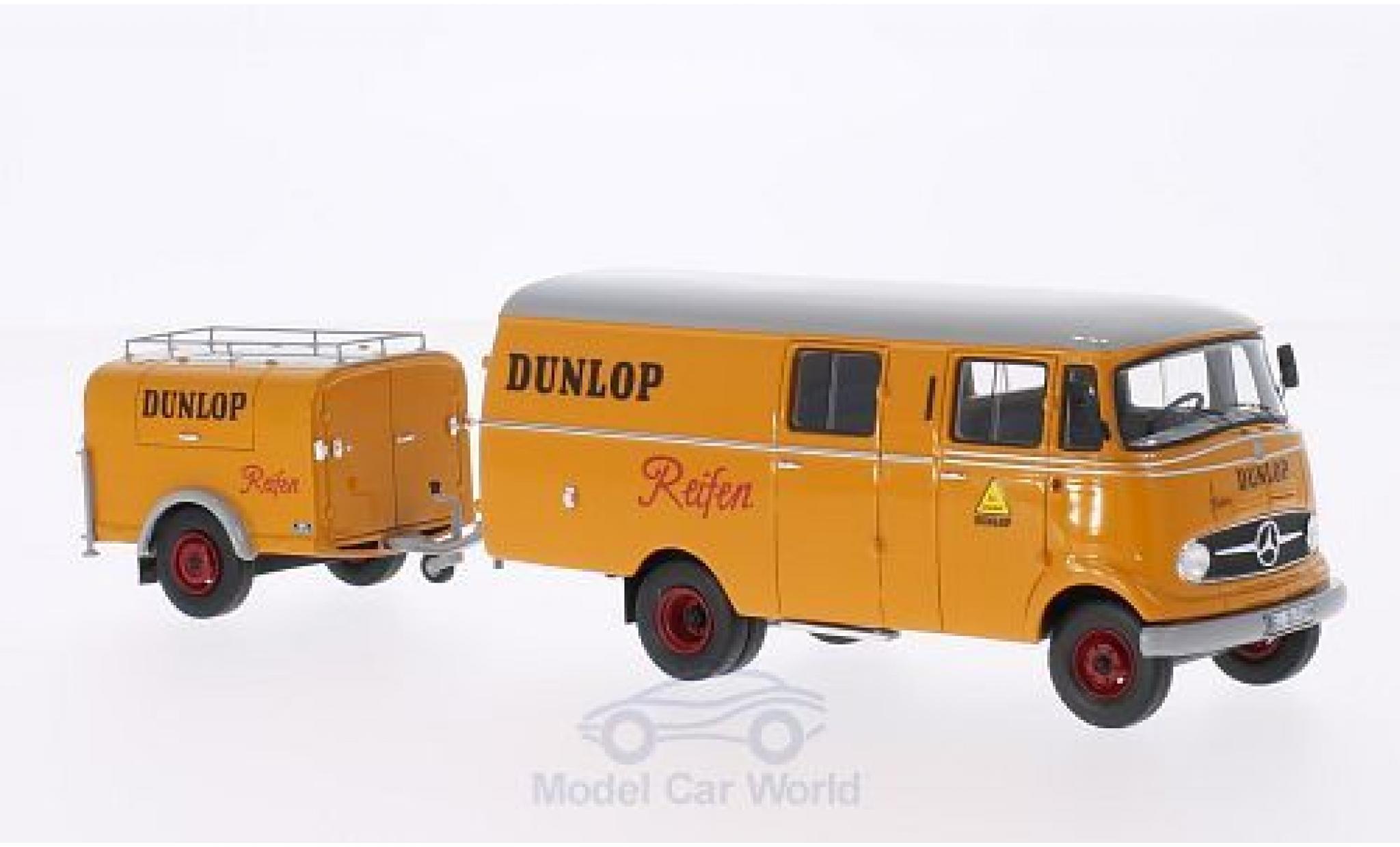 Mercedes L319 1/43 Neo Dunlop 1961 mit Ein-Achs-Anhänger ohne Vitrine