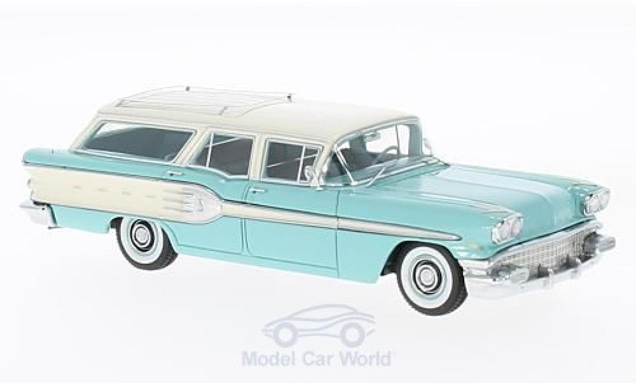 Pontiac Star Chief 1/43 Neo Safari turquoise/blanche 1958