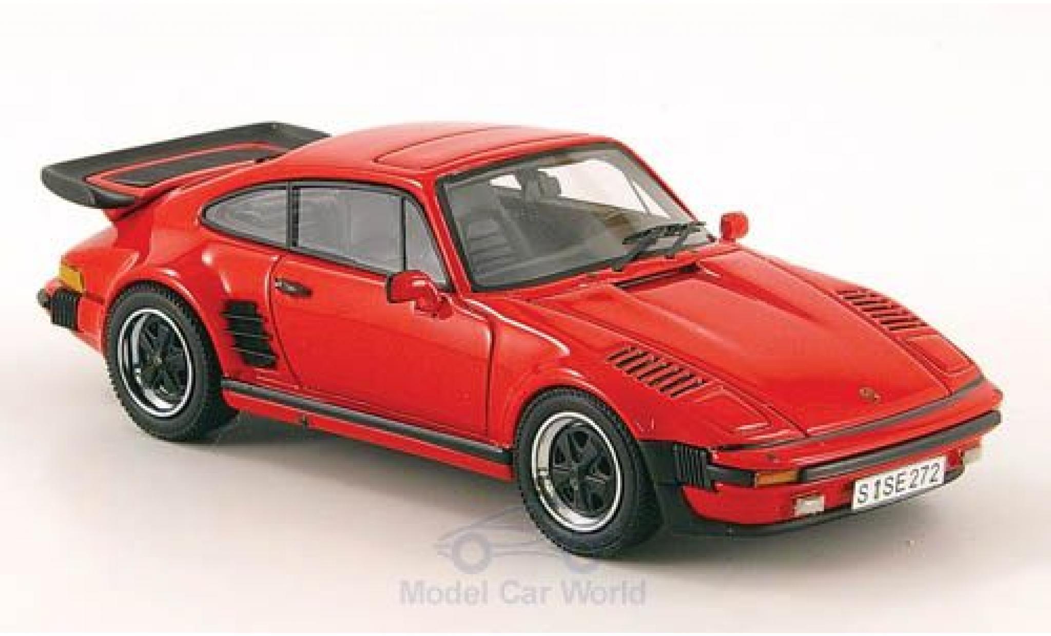 Porsche 930 Turbo 1/43 Neo SE Flatnose rouge 1987