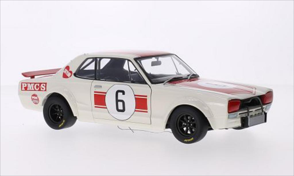 Nissan Skyline 1/18 Autoart GT-R (KPGC10) RHD No.6 GP Japan 1971 miniature