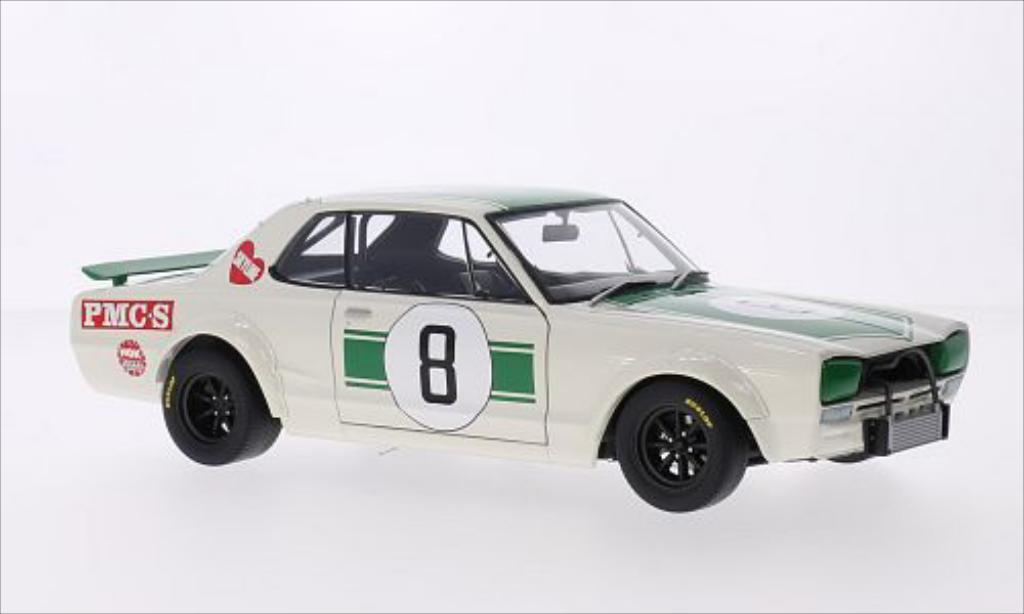 Nissan Skyline 1/18 Autoart GT-R (KPGC10) RHD No.8 GP Japan 1971 miniature