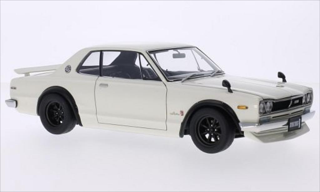 nissan skyline miniature gt r kpgc10 blanche rhd autoart. Black Bedroom Furniture Sets. Home Design Ideas