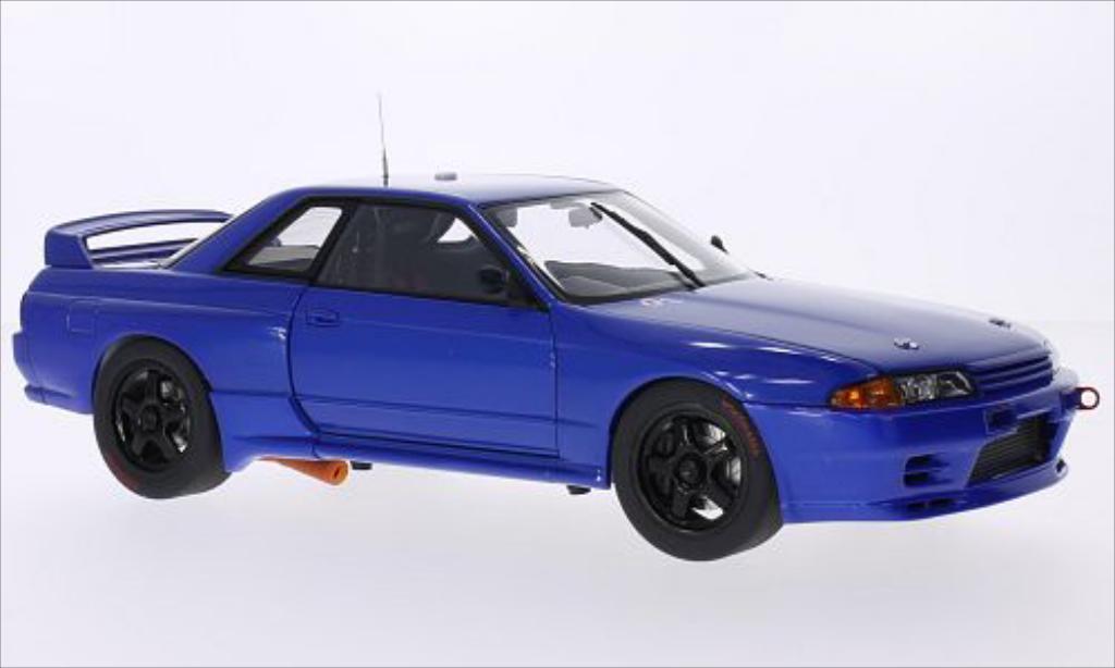 Nissan Skyline 1/18 Autoart GT-R (R32) bleu RHD 1992 miniature