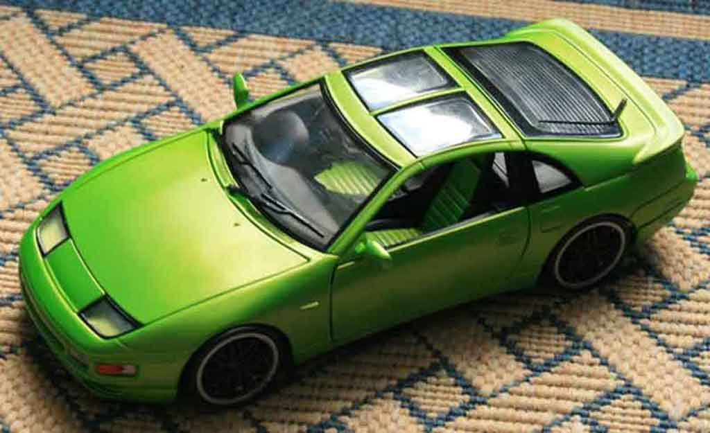 Nissan 300 ZX 1/18 Kyosho fairlady green jantes style bbs noires tuning miniature