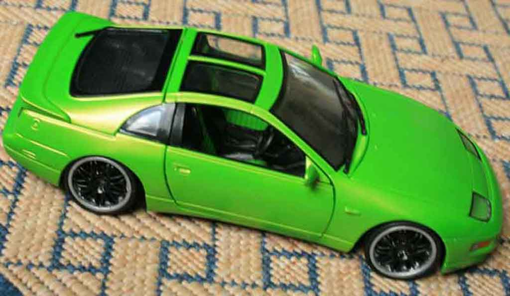 Nissan 300 ZX 1/18 Kyosho ZX fairlady green jantes style bbs noires