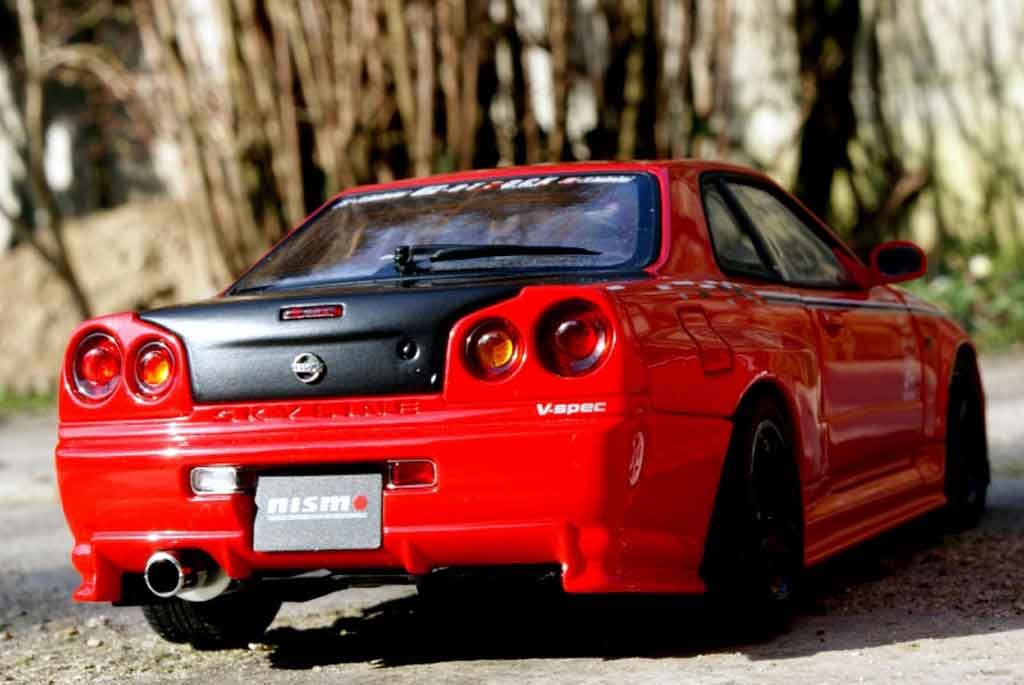 Nissan Skyline R34 1/18 Autoart r-tune street racing tuning diecast model cars