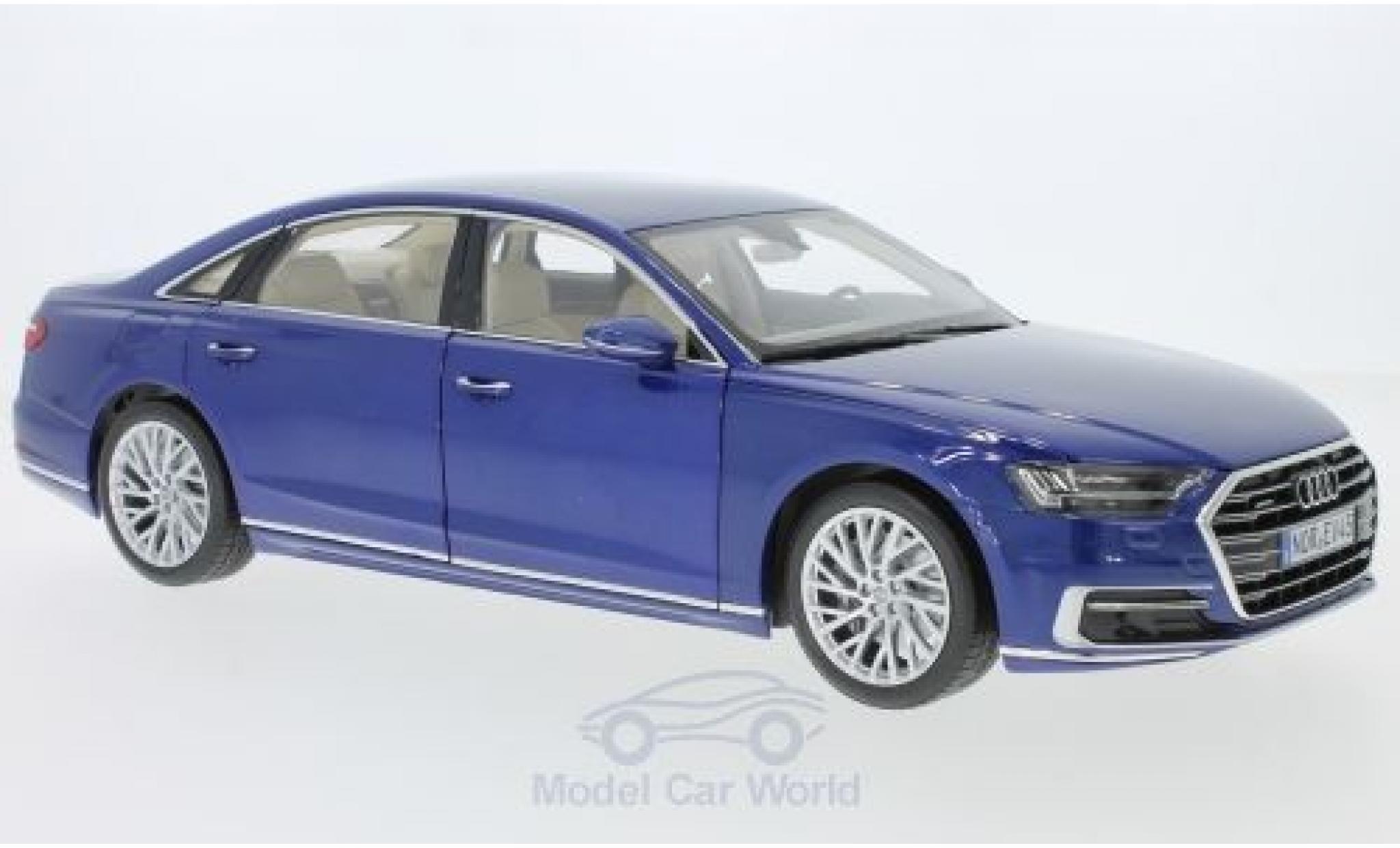 Audi A8 1/18 Norev L metallise bleue 2017