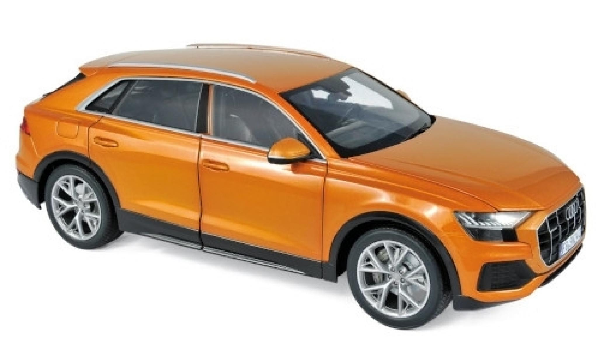 Audi Q8 1/18 Norev metallise orange 2018