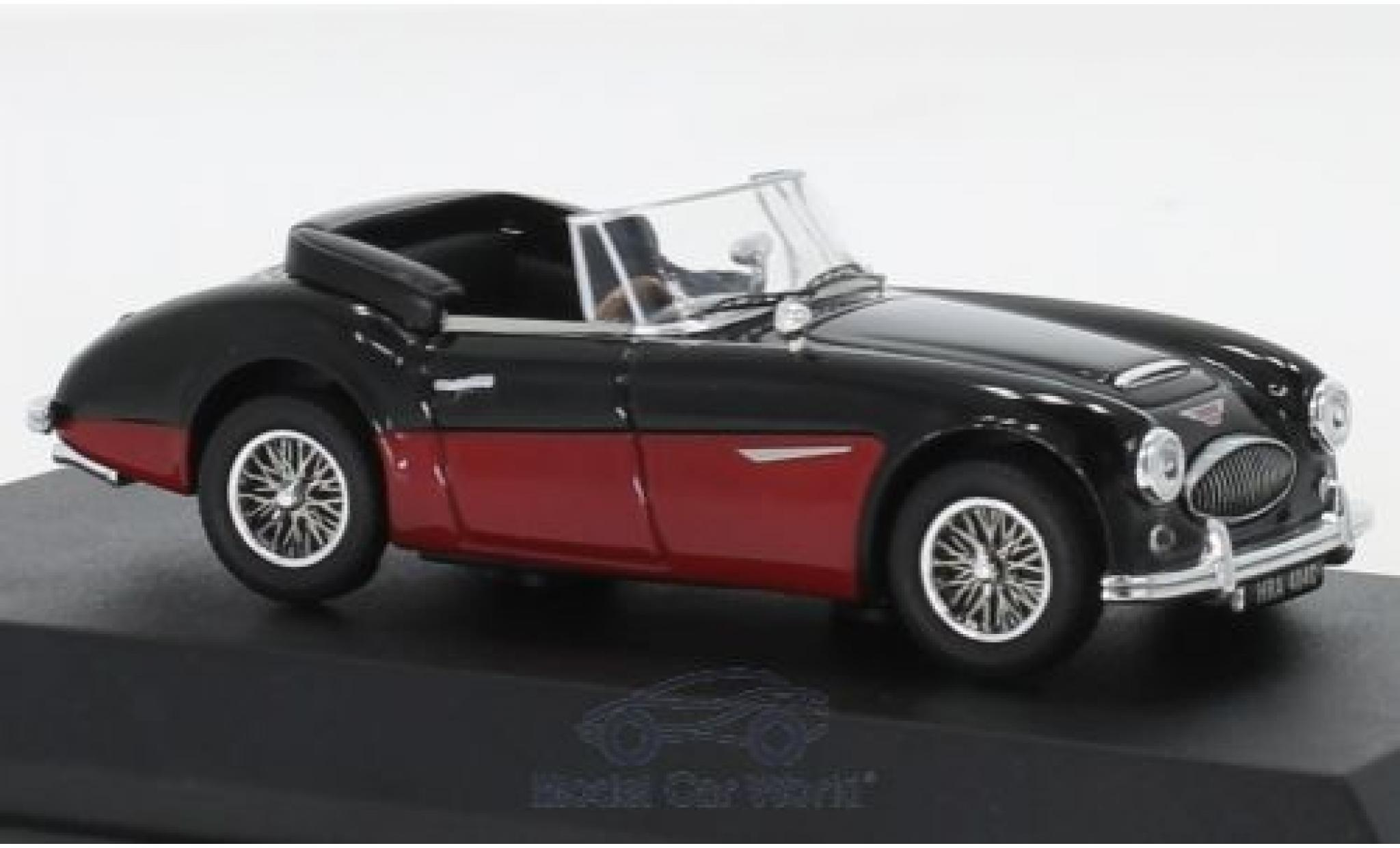 Austin Healey 3000 1/43 Norev MK3 noire/rouge RHD 1964