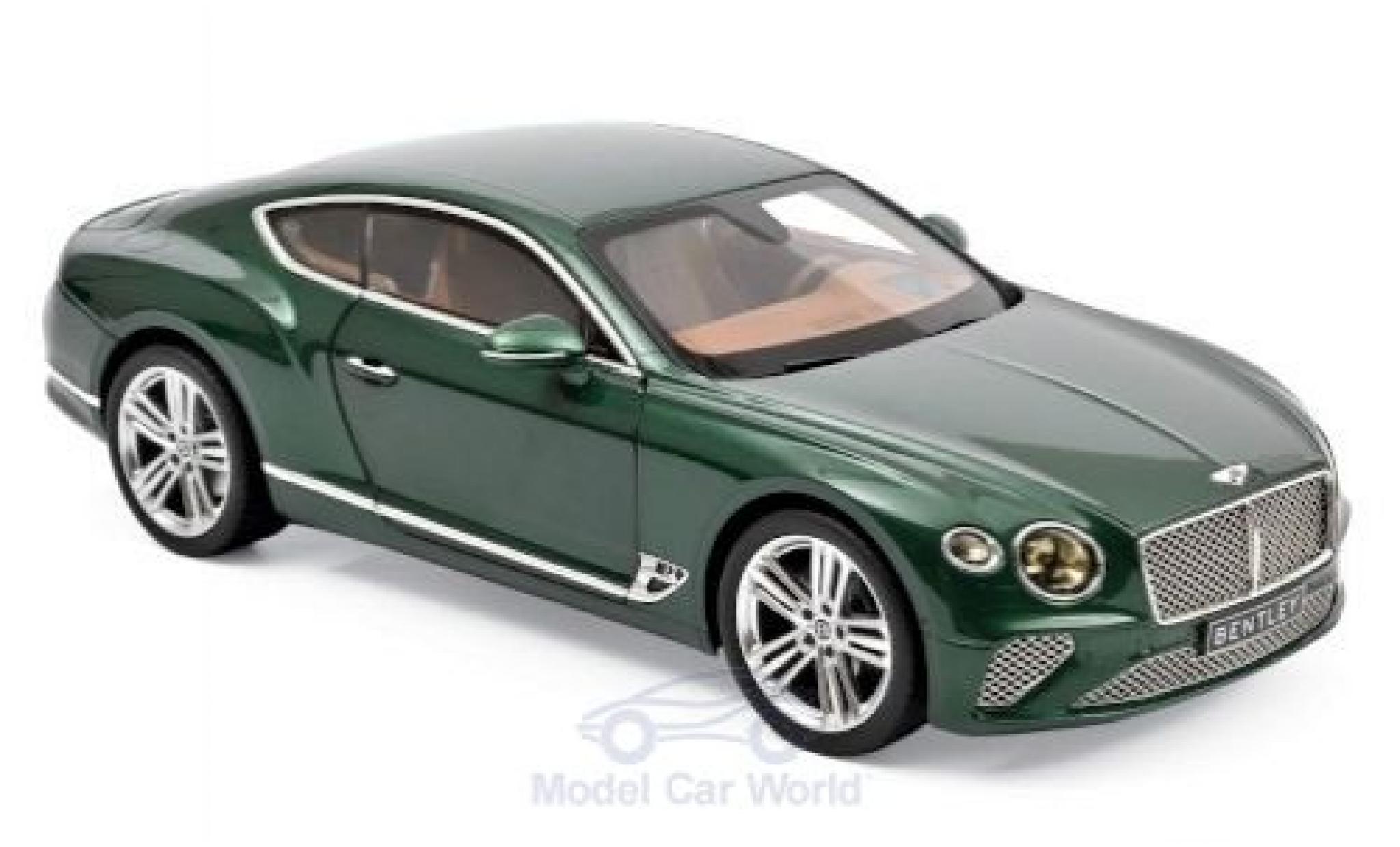 Bentley Continental 1/18 Norev GT metallise verte 2018
