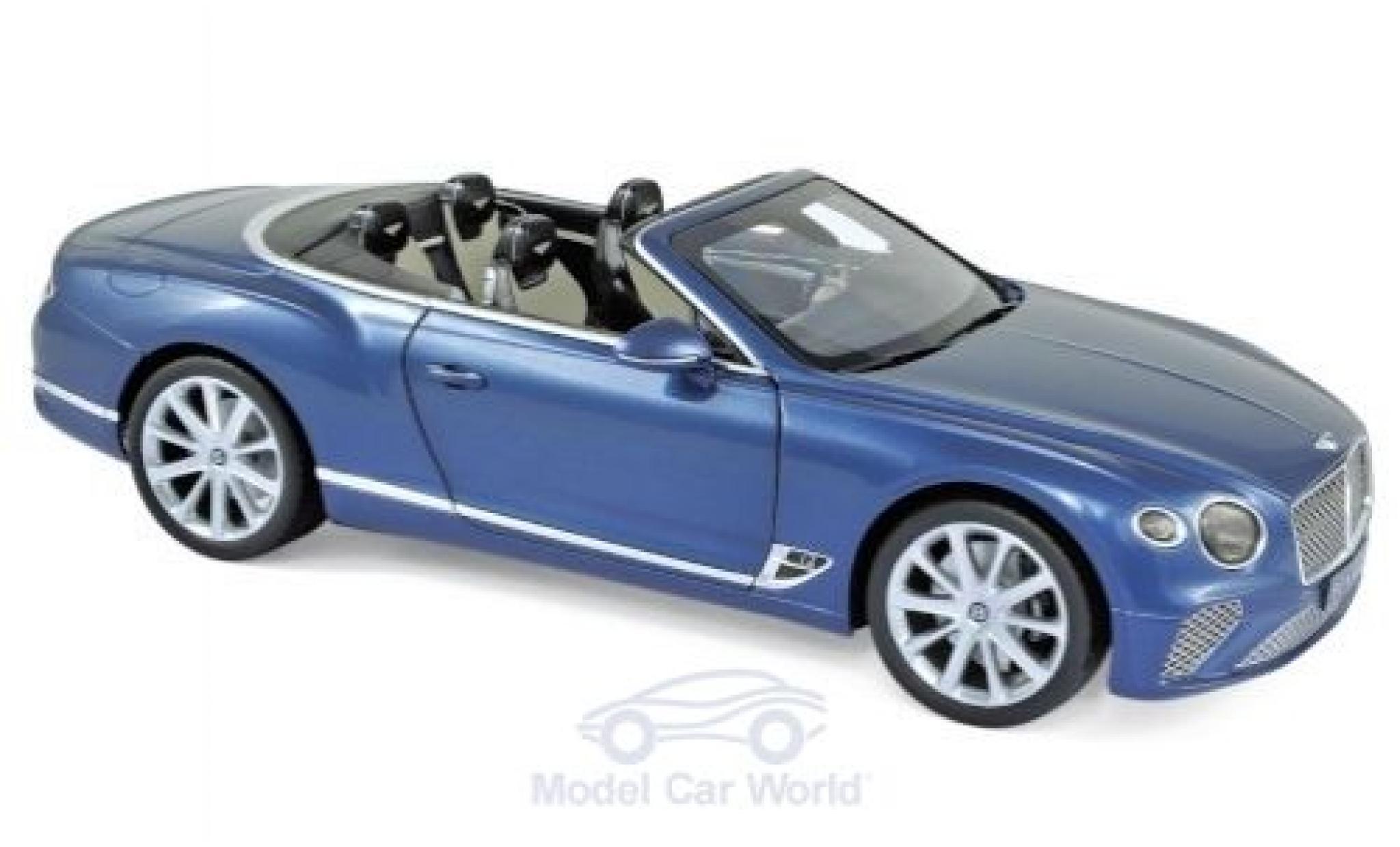 Bentley Continental 1/18 Norev GTC metallic blue 2019