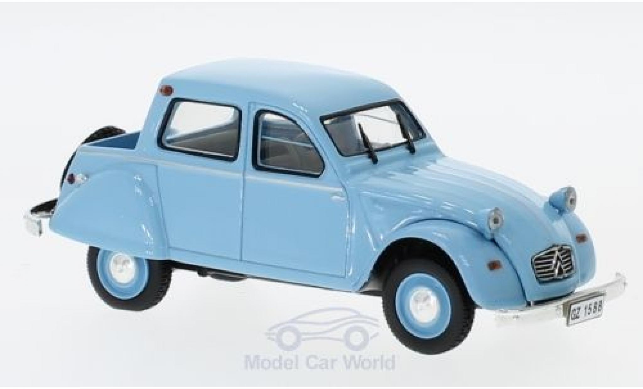 Citroen 2CV 1/43 Norev Citroneta bleue 1963